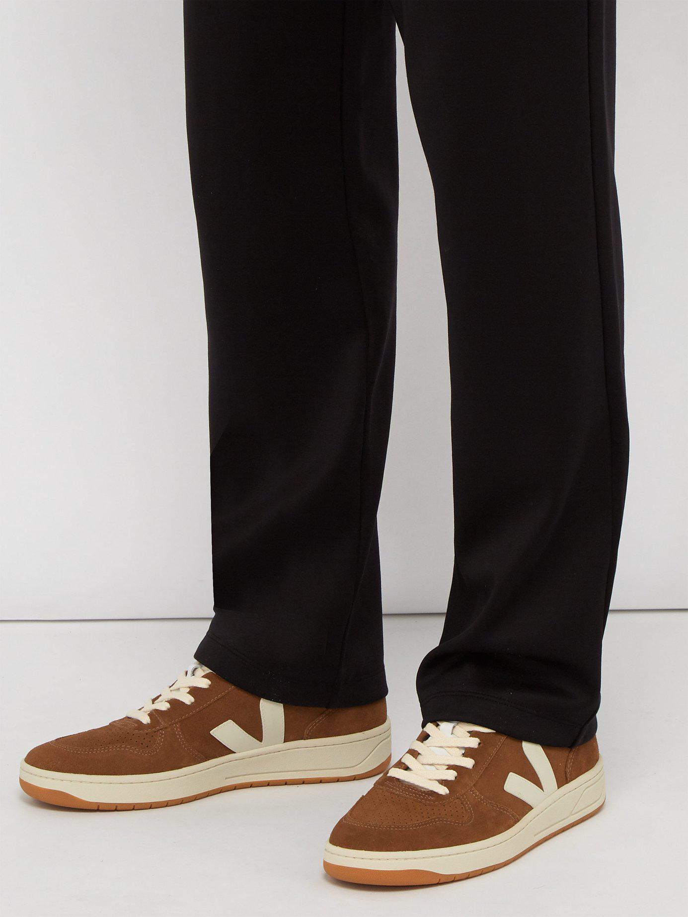 f1ddaa82a837b0 Veja V 10 Suede Low Top Trainers in Brown for Men - Save 51% - Lyst