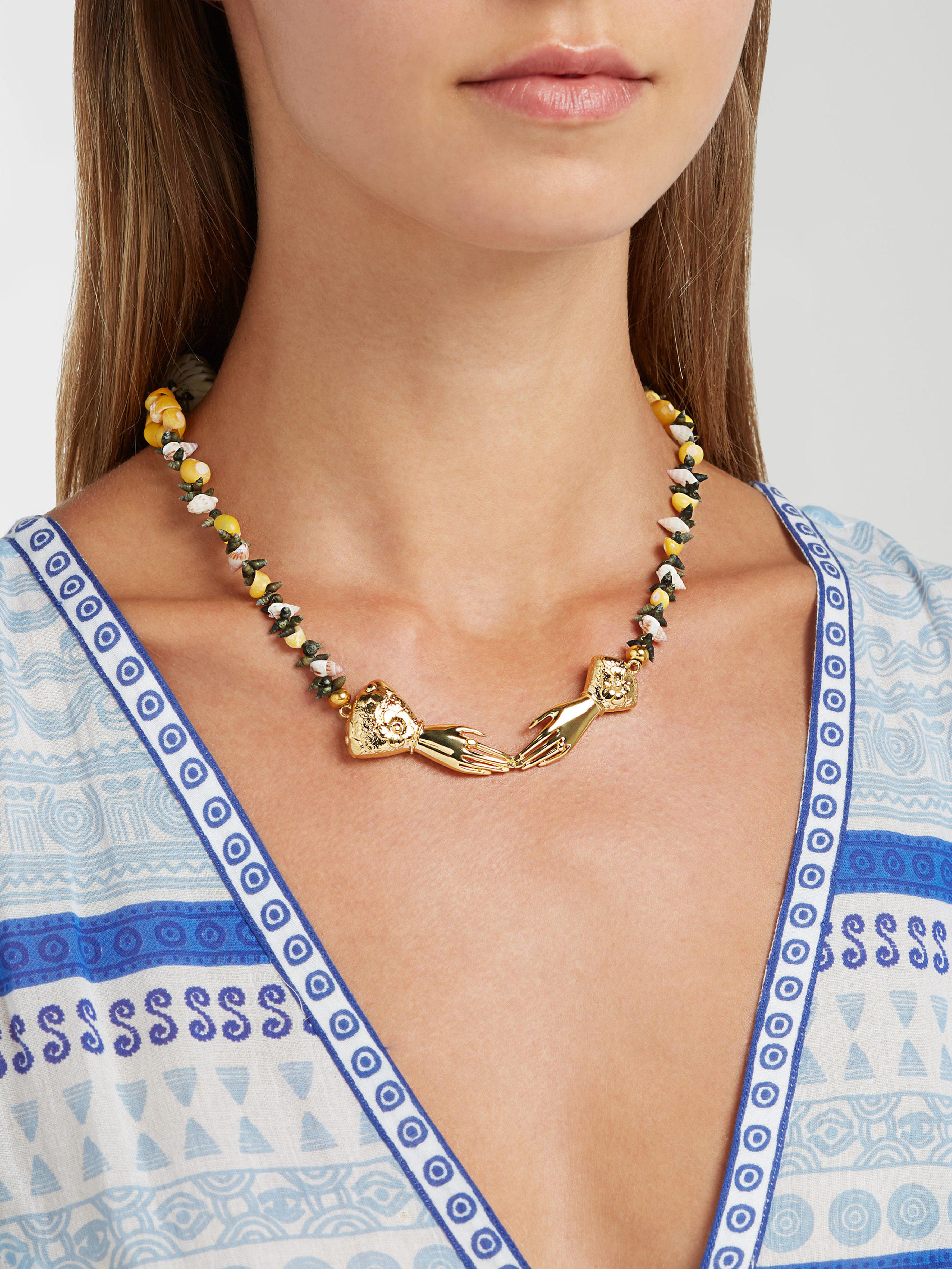 Heimat Atlantica Eloise Shell-embellished Necklace in Metallic