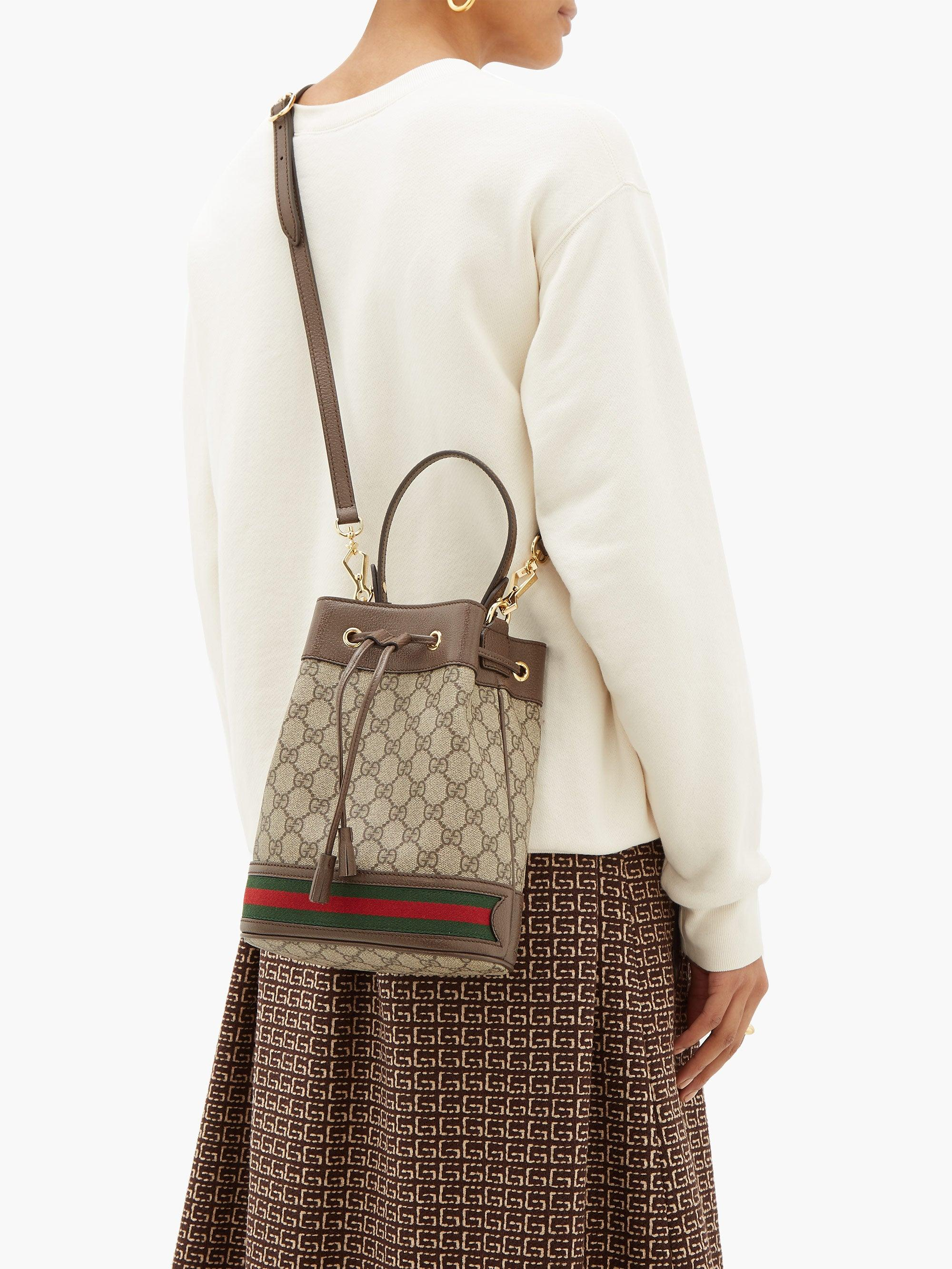 Gucci Synthetic Ophidia Gg Bucket Bag Small Save 36 Lyst