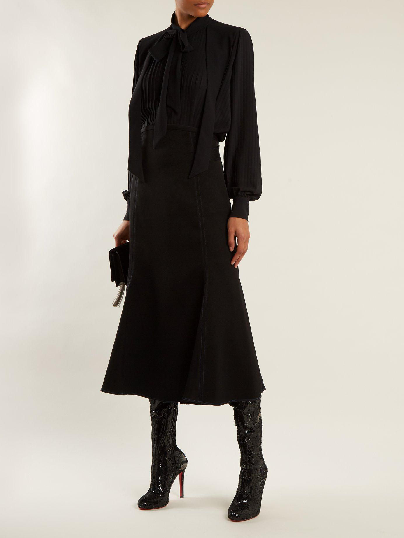 1e1c22198a5 Lyst - Christian Louboutin Louise 100mm Over-the-knee Boots in Black