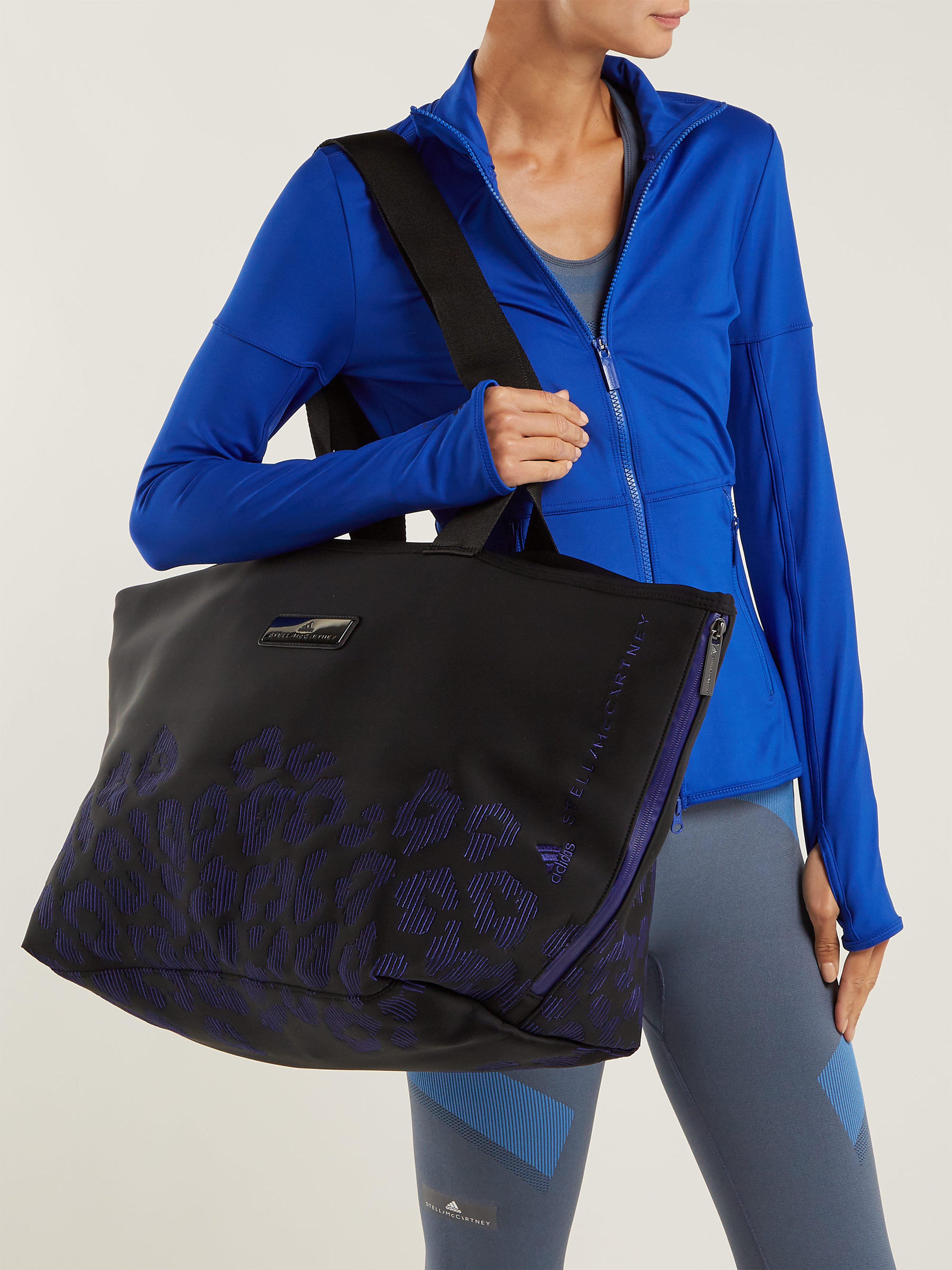 adidas By Stella McCartney Oversized Neoprene Tote in Black Purple (Black)