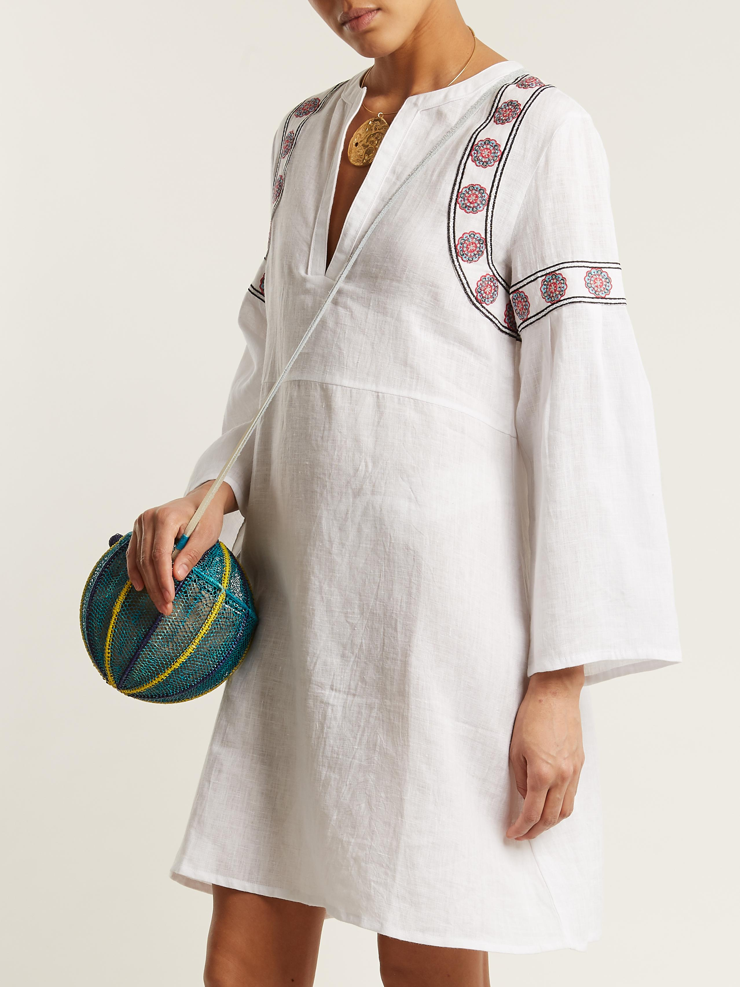 Clearance View Pantelleria embroidered-linen kaftan Daft Outlet Affordable Sale 2018 New rsKwBNjG
