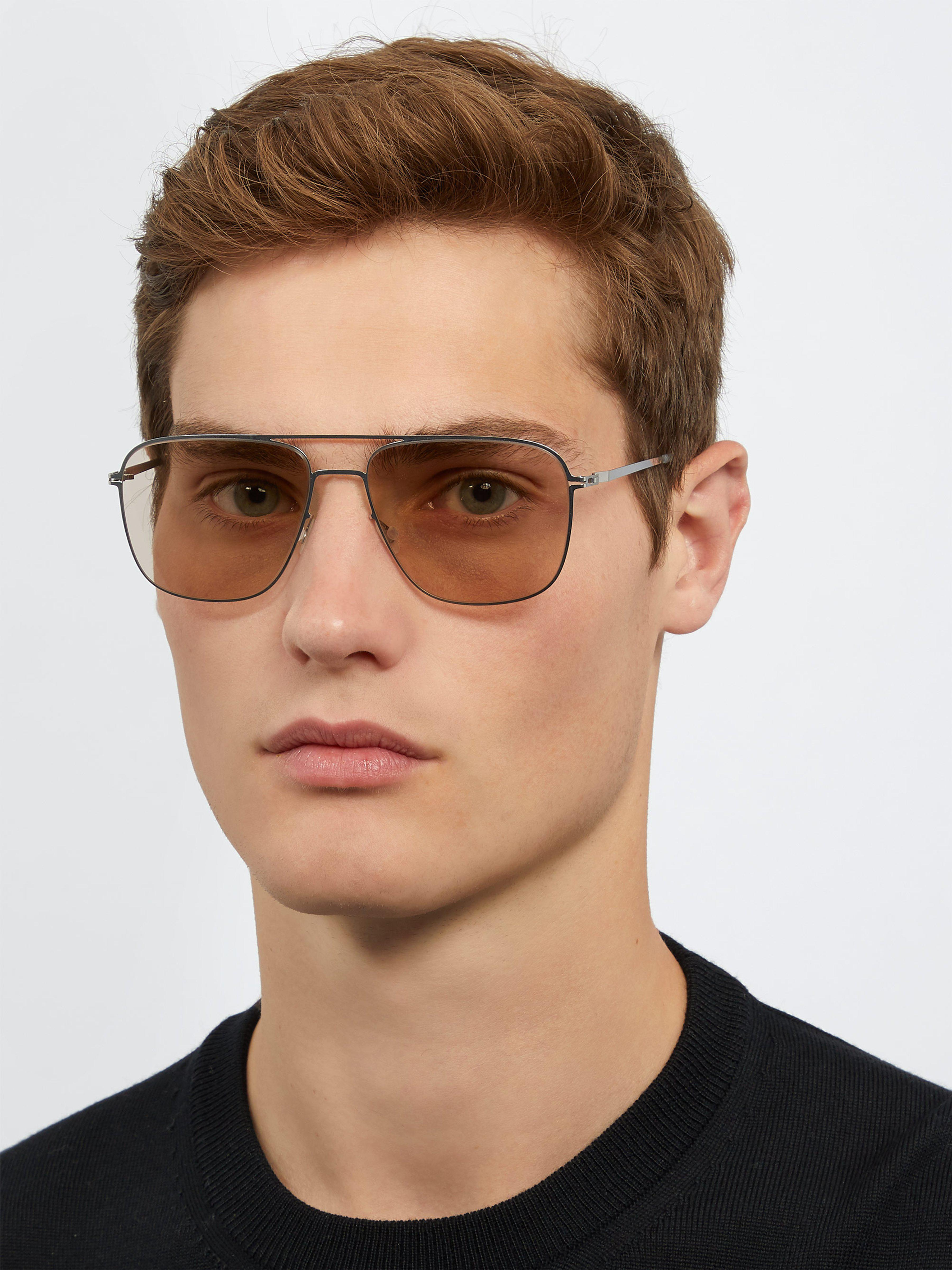 ee1723543e82b Mykita Rankin Aviator Frame Sunglasses in Metallic for Men - Lyst