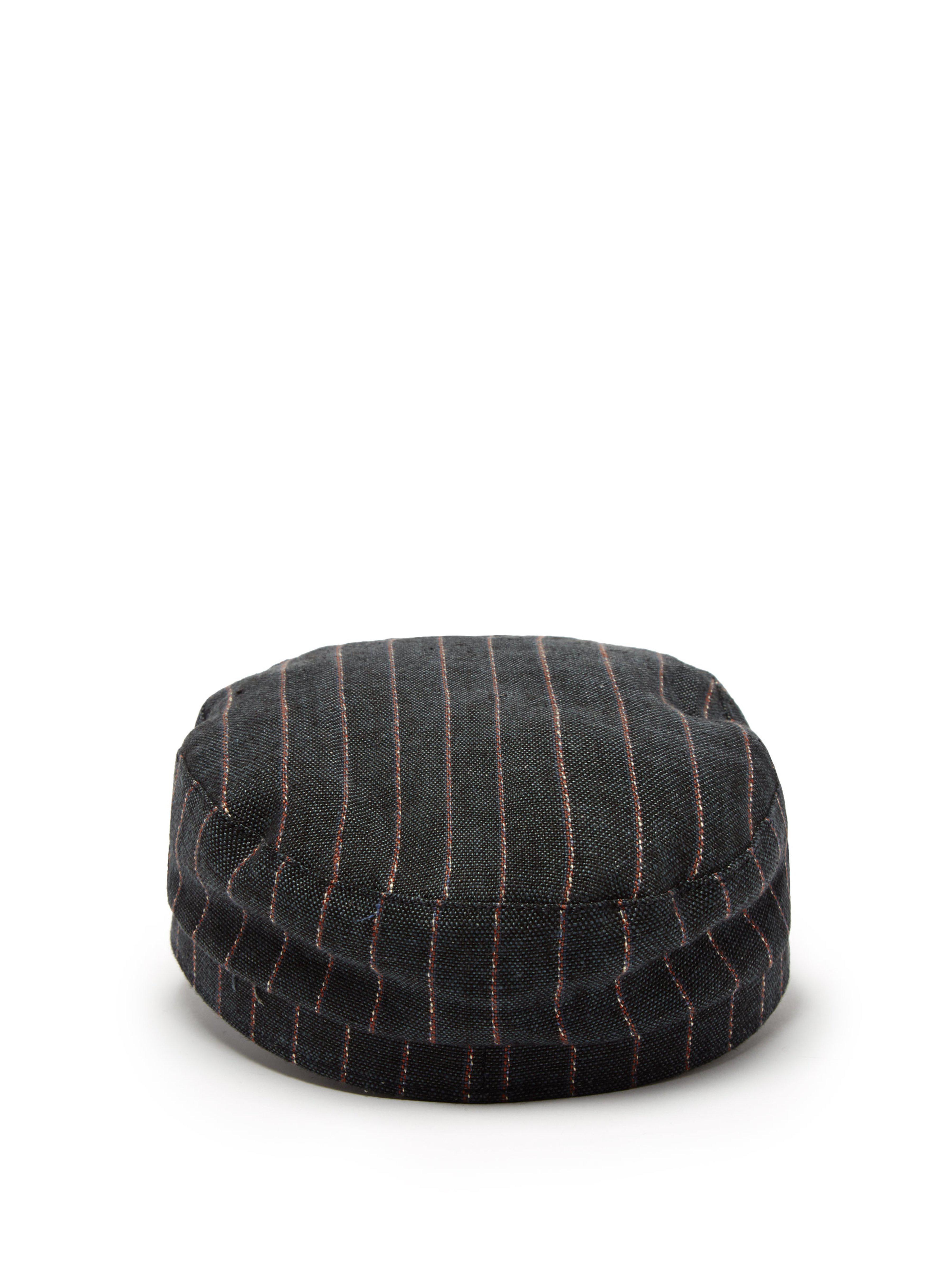 9354aeb9 Isabel Marant - Black Striped Linen Captain's Hat - Lyst. View fullscreen