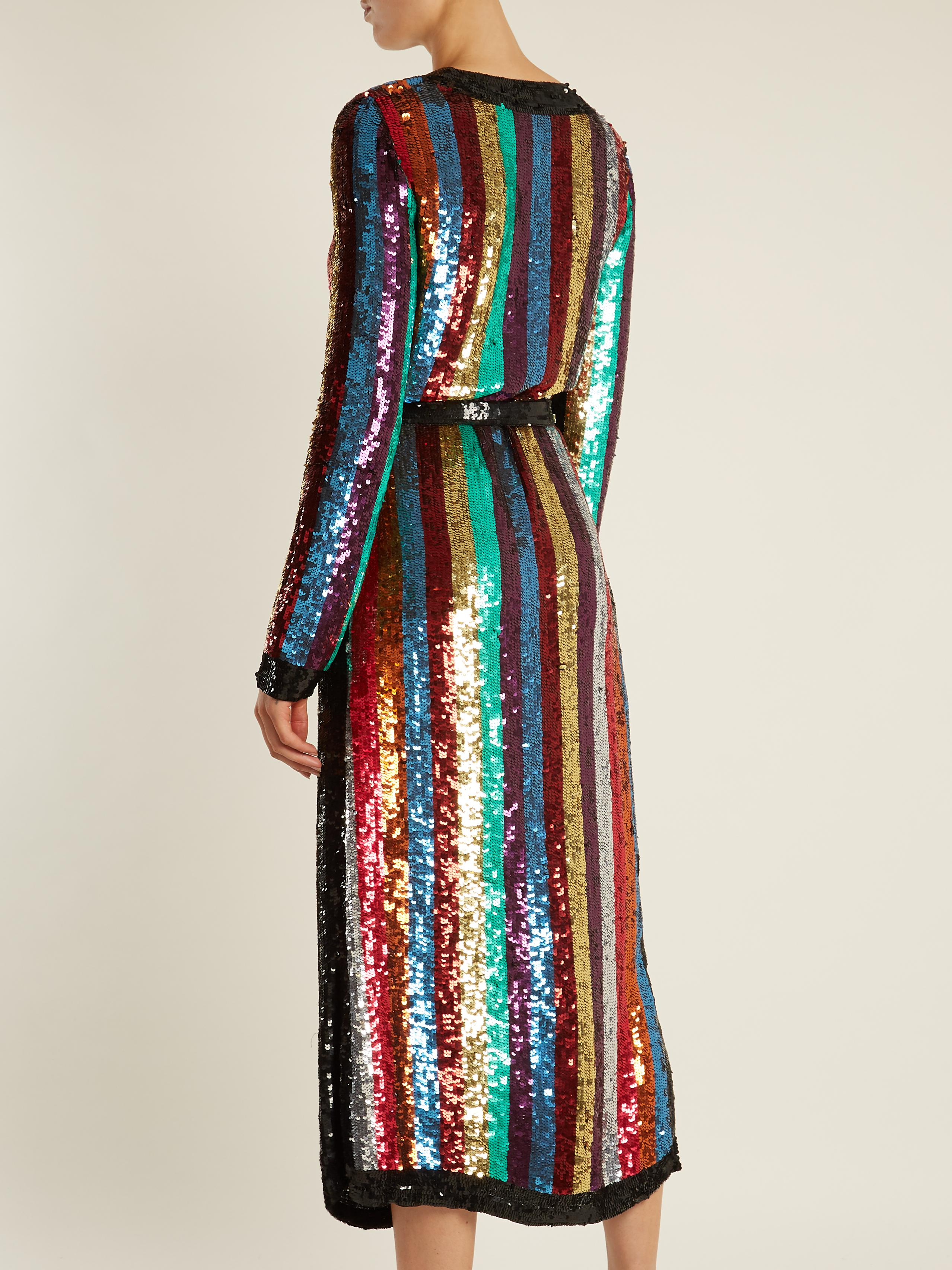 Lyst Attico Grace Sequin Wrap Dress