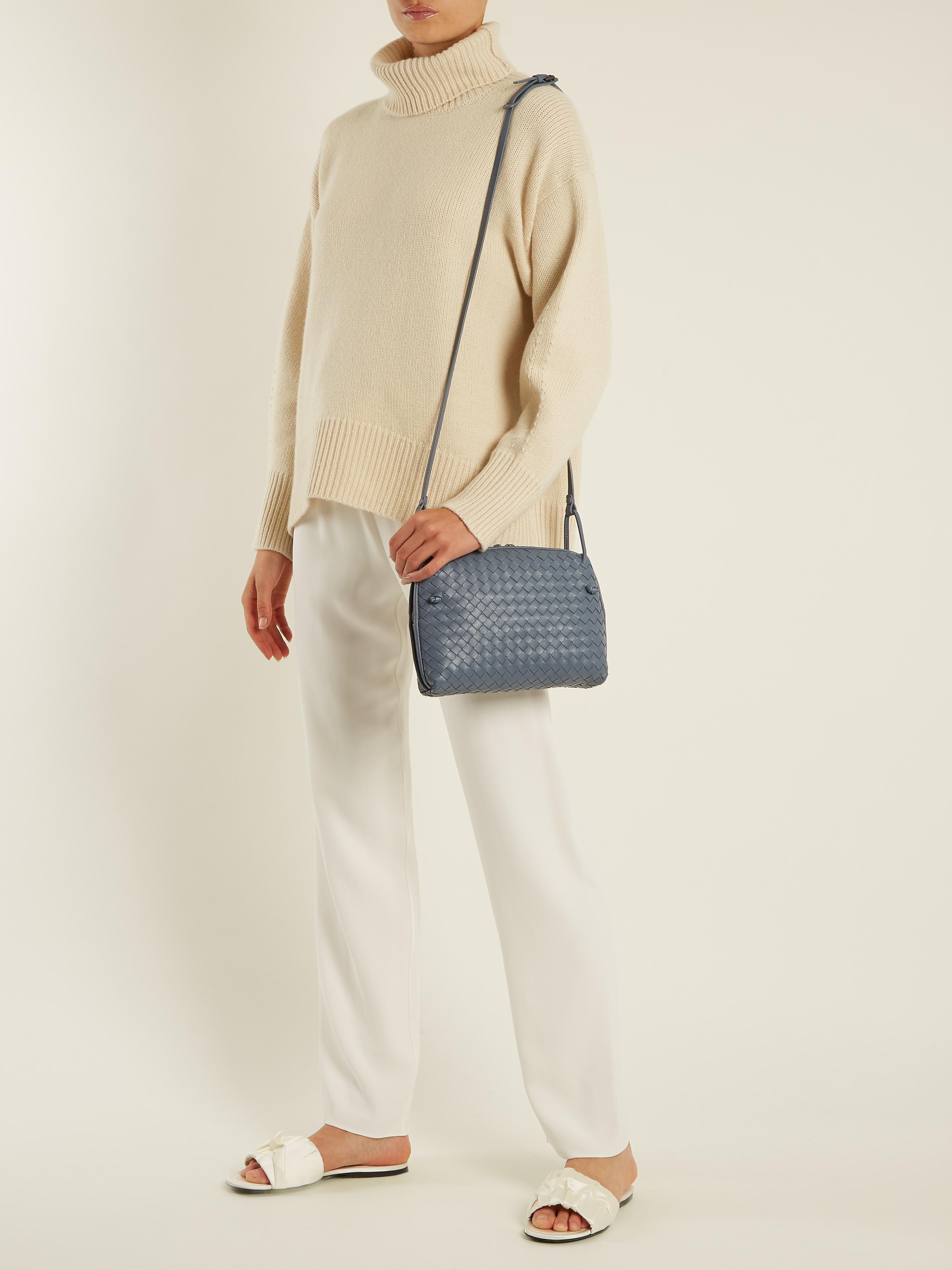 3ebe06c6a2 Bottega Veneta Nodini Small Intrecciato Leather Cross-body Bag in ...