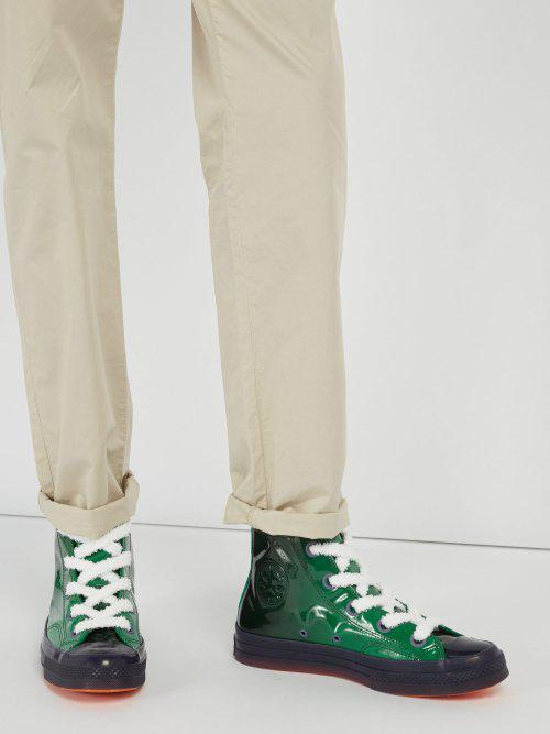 Converse Chuck 70 Toy Patent-leather High-top Trainers in Green for Men