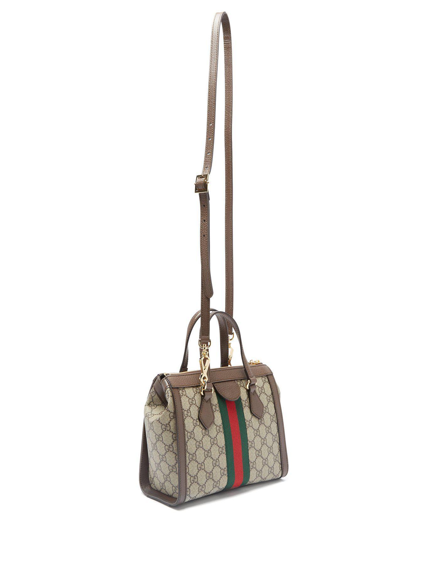bac4d876e607 Gucci Ophidia Gg Supreme Canvas Cross Body Bag in Gray - Lyst