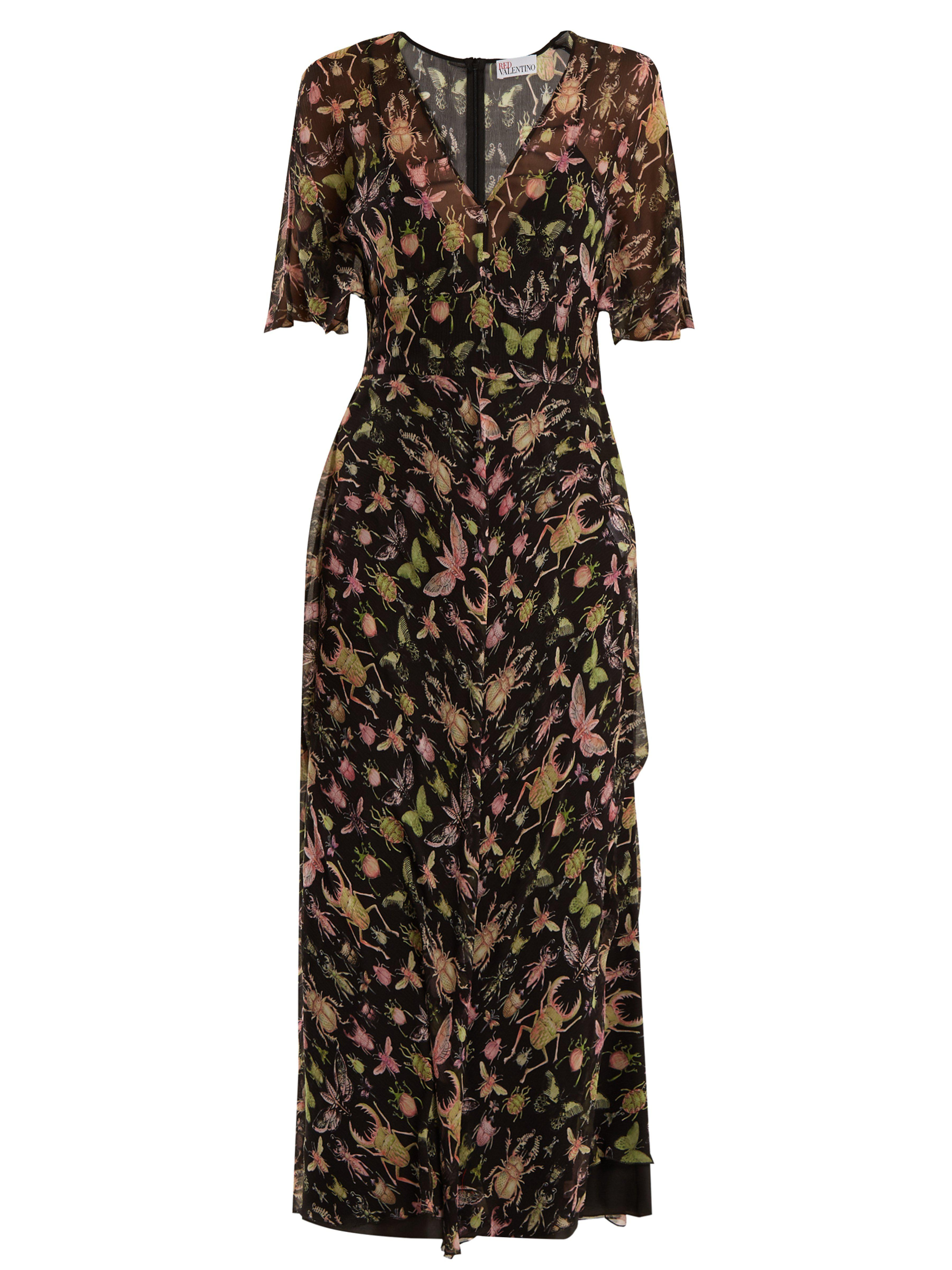 bdcdb9bc7 red-valentino-black-multi-Bug-Print-V-Neck-Silk-Chiffon-Midi-Dress.jpeg