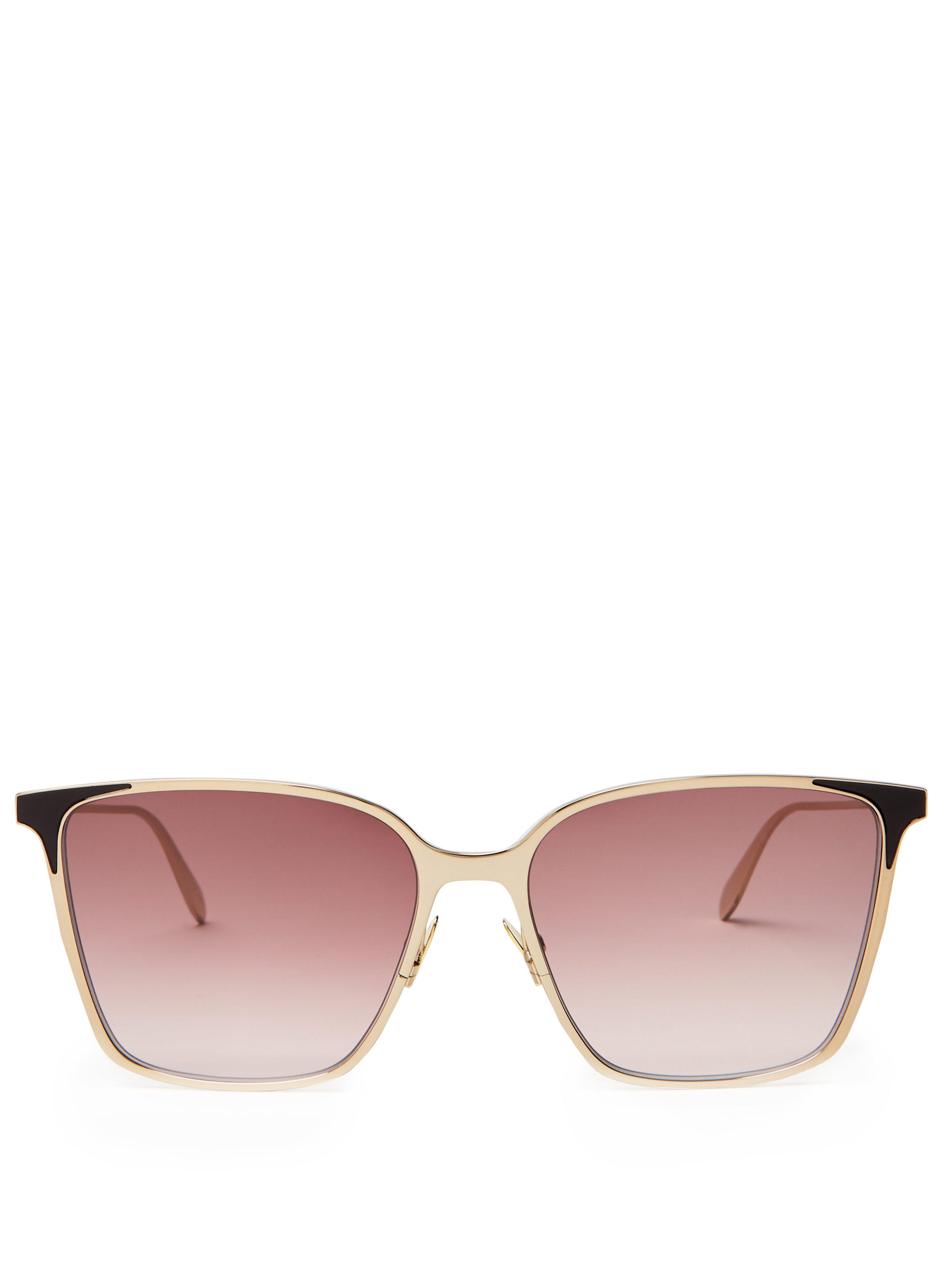 1a9471f4146 Alexander McQueen Square Frame Metal Sunglasses in Metallic for Men ...