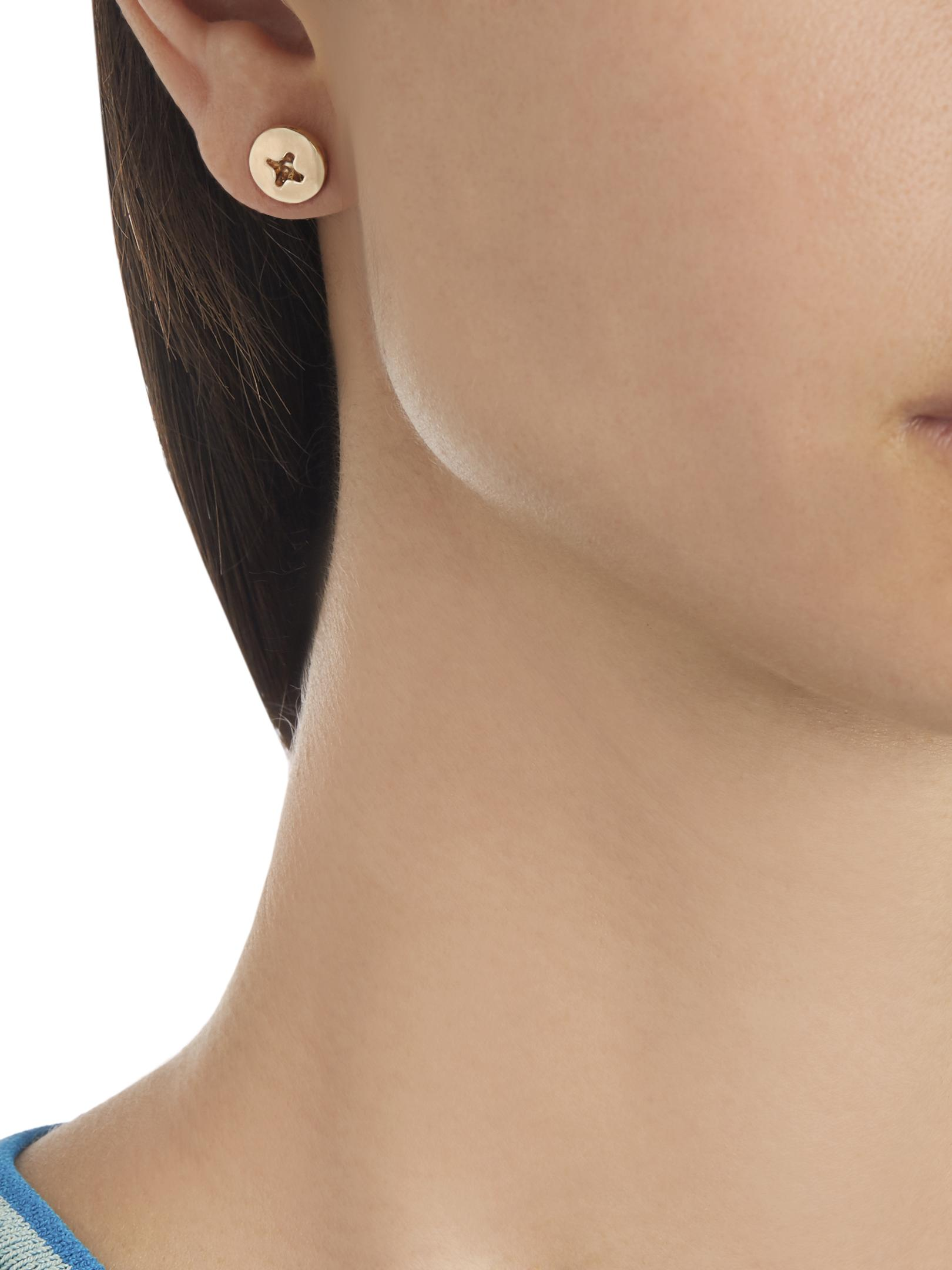 Alison Lou Yellow-gold Screw Head Earring in Yellow Gold (Metallic)