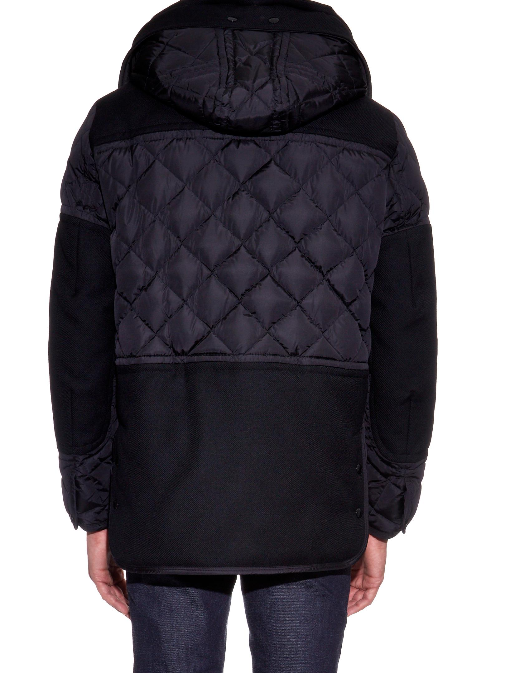Moncler Wool Gaumont Hooded Quilted Down Jacket in Black for Men