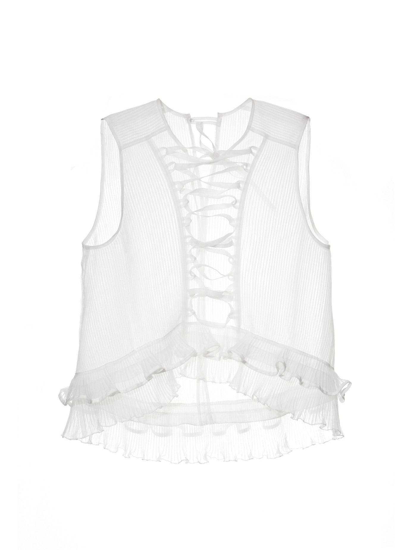 Isabel Marant is renowned for romantic designs inspired by the label's native Paris, and this white linen Lyneth top is no exception. It's crafted to a high-neck, with crochet panels running across the chest and waist, exaggerated blouson sleeves, and lace cuffs.