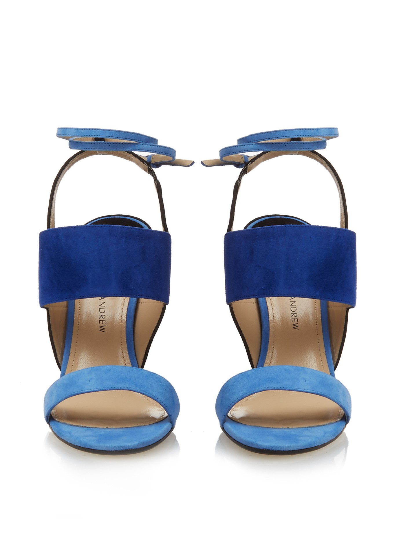 Lyst Paul Andrew Colour Block Suede Sandals In Blue