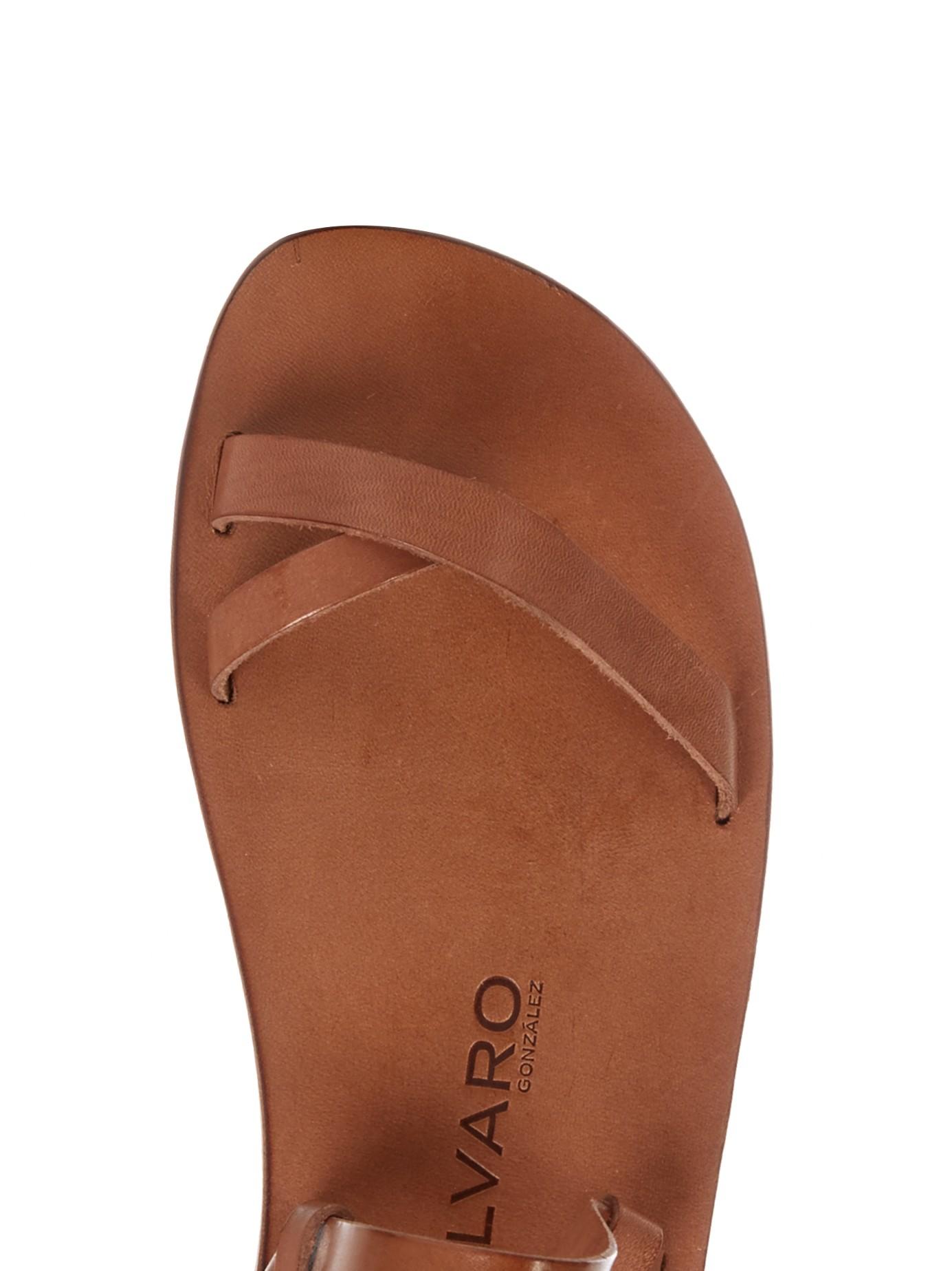 Lyst Alvaro Arno Leather Sandal In Brown For Men