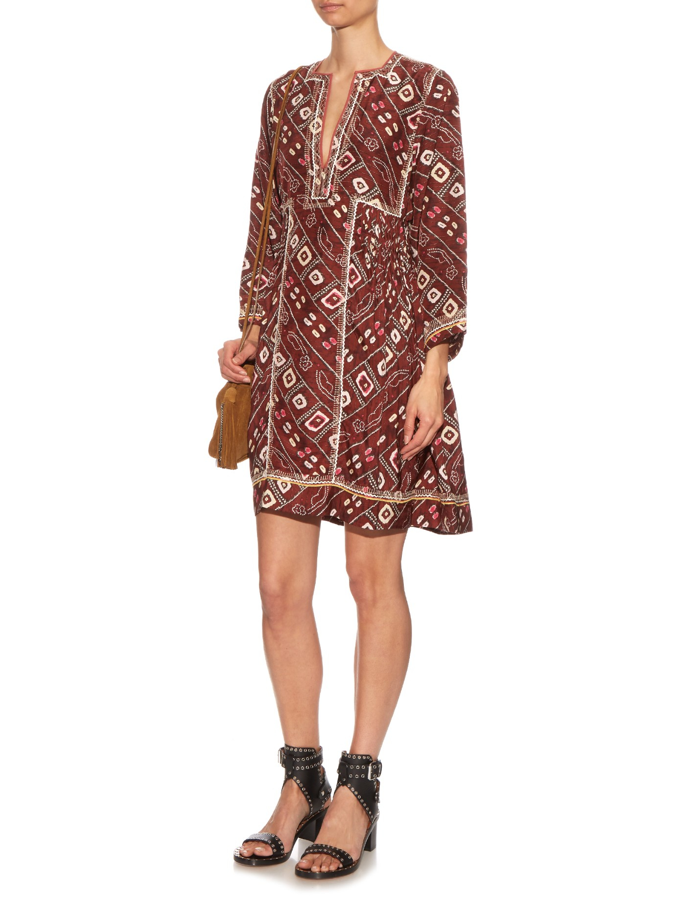 Lyst isabel marant 39 thurman 39 dress in red for Isabel marant shirt dress
