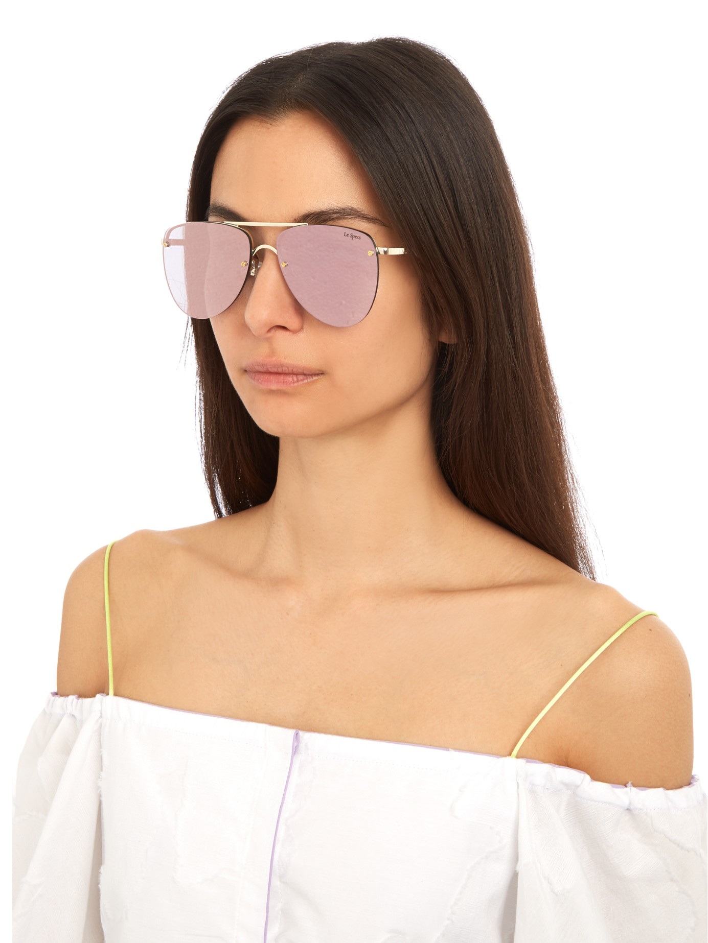 le specs the prince aviator sunglasses in pink lyst. Black Bedroom Furniture Sets. Home Design Ideas