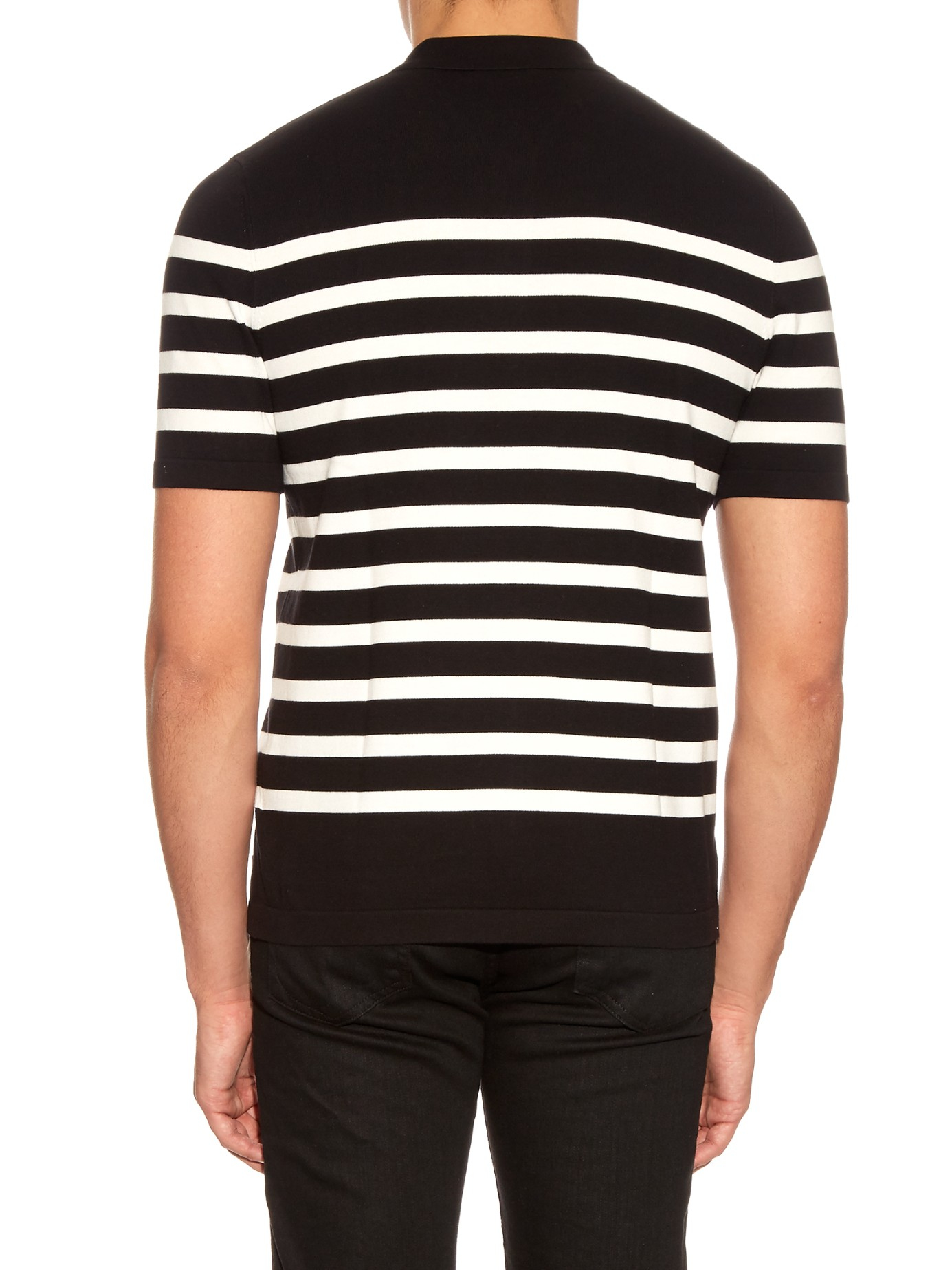 striped knitted polo shirt - White Burberry Cheap Sale Affordable VgdQXdH