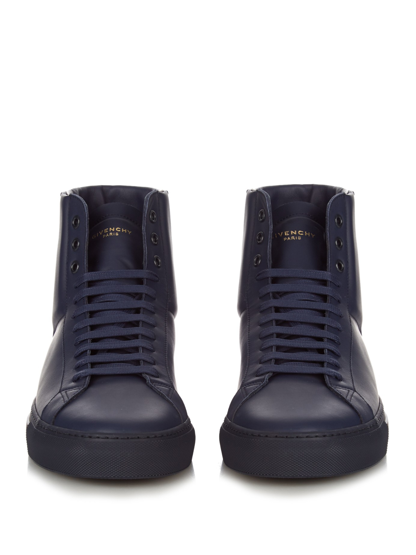 Givenchy Urban Knots High-top Leather Trainers in Navy (Black) for Men