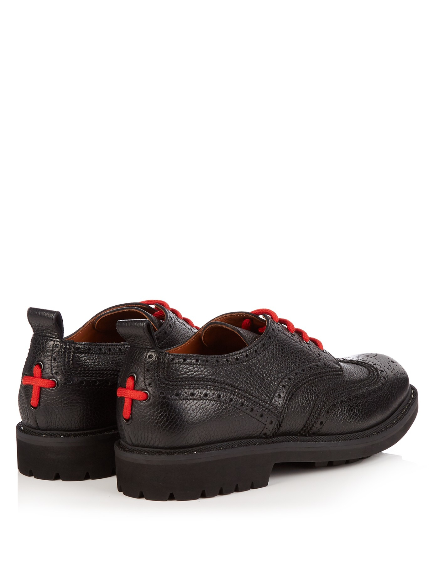 Givenchy Commando Leather Brogues in Black for Men