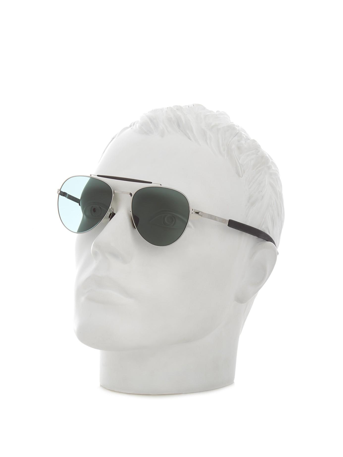Mykita Mylon Sloe Stainless-steel Aviator Sunglasses in Silver (Metallic) for Men