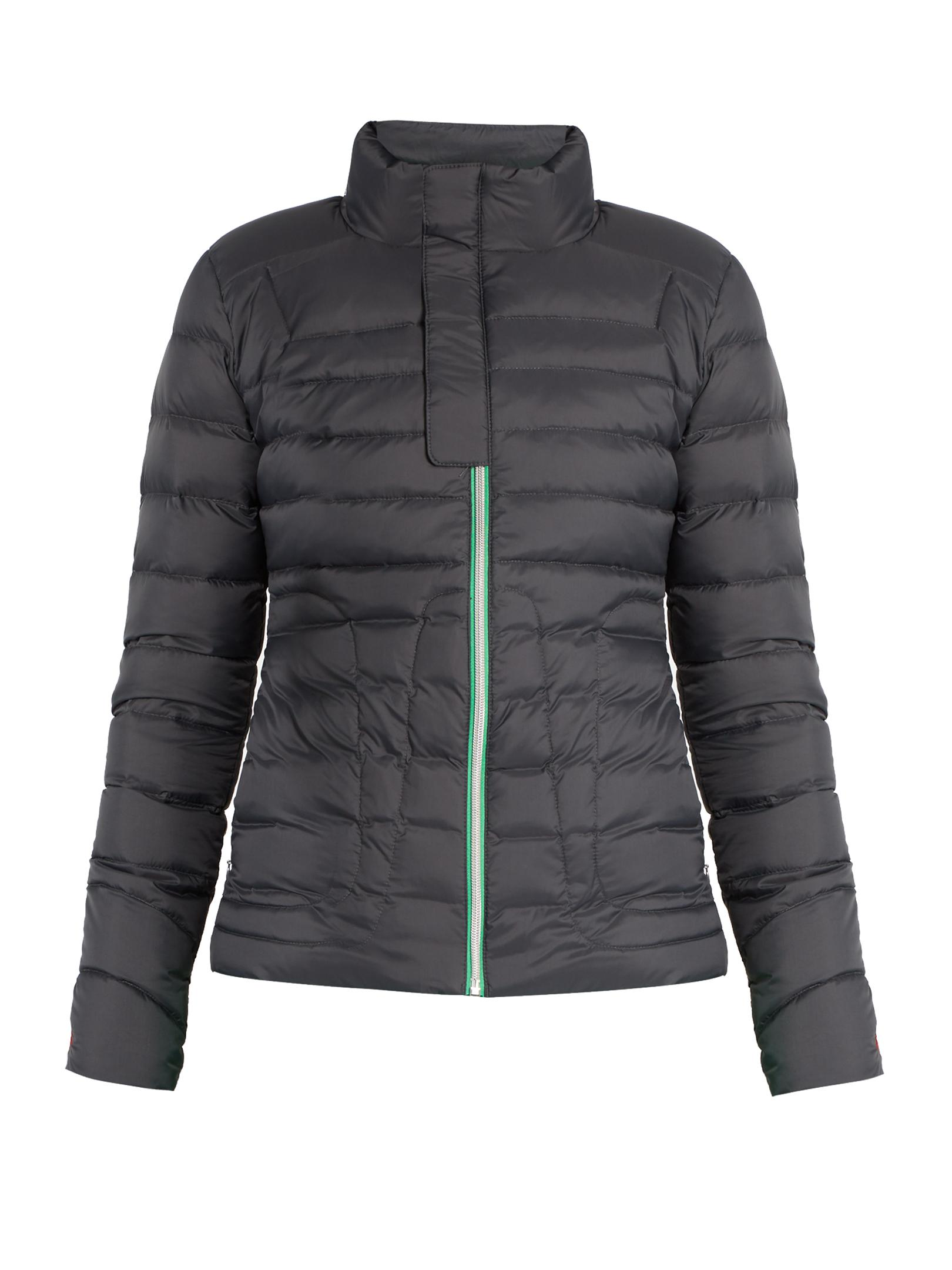 Perfect Moment Down Padded Ski Jacket In Gray Lyst