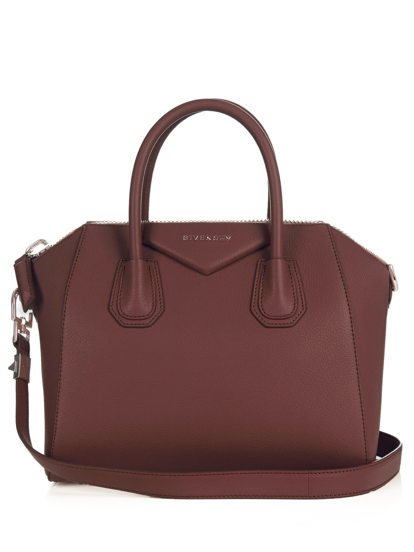 706b3ded77af Givenchy Antigona Small Leather Tote in Red - Lyst