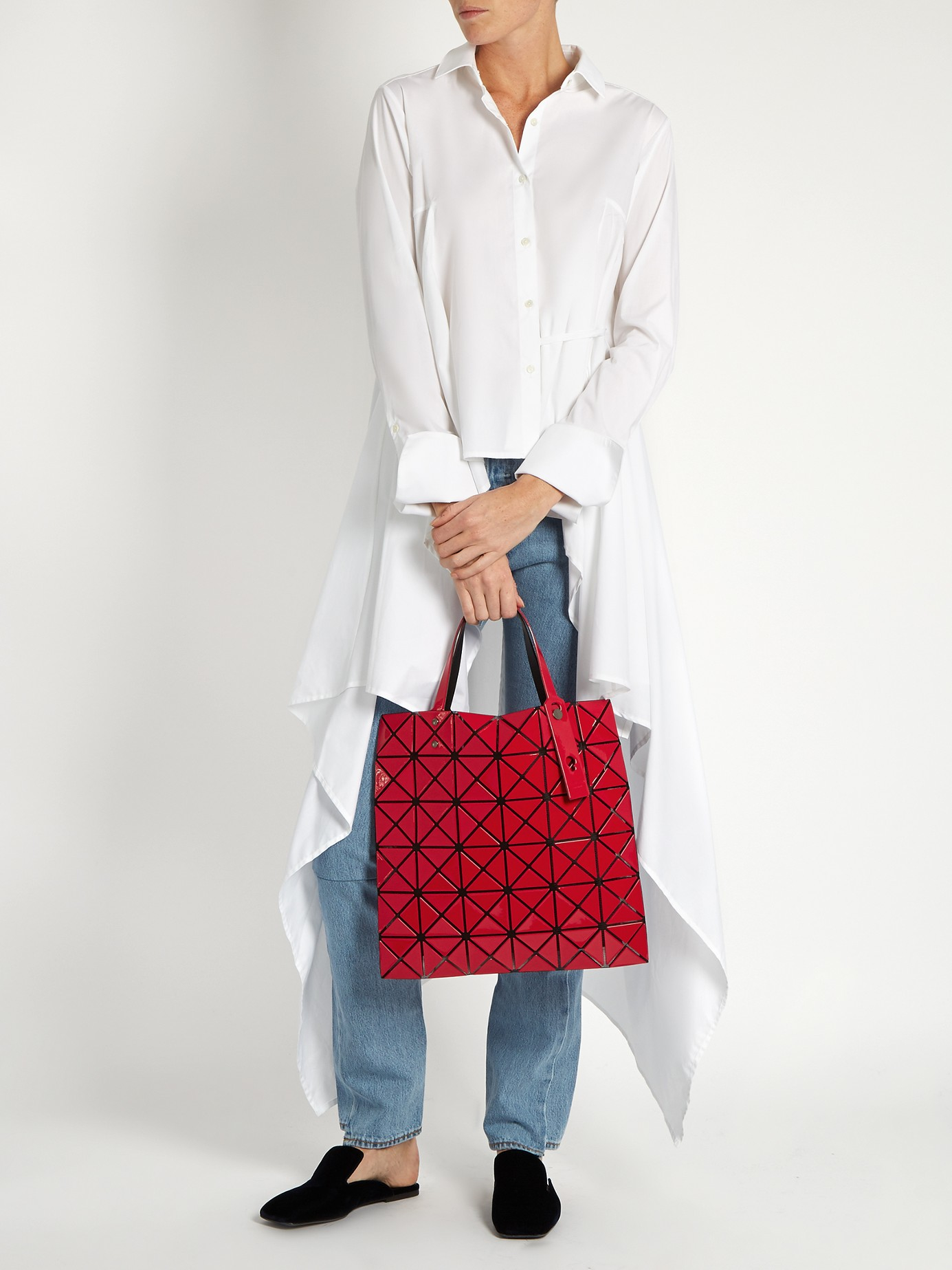 Bao Bao Issey Miyake Lucent Gloss Tote in Red