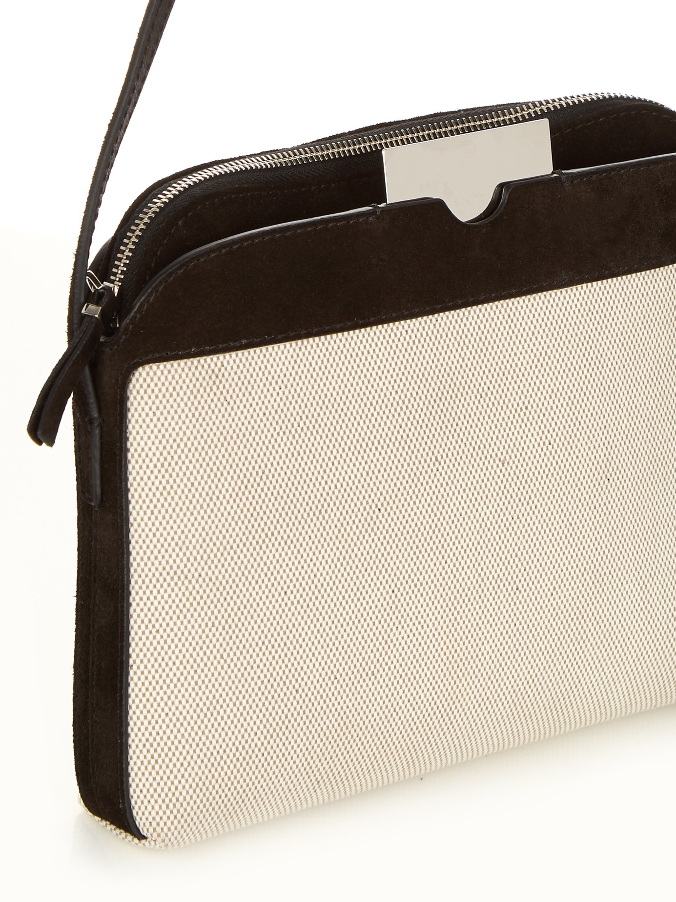 a07995d46 The Row Multi-pouch Canvas And Suede Cross-body Bag - Lyst
