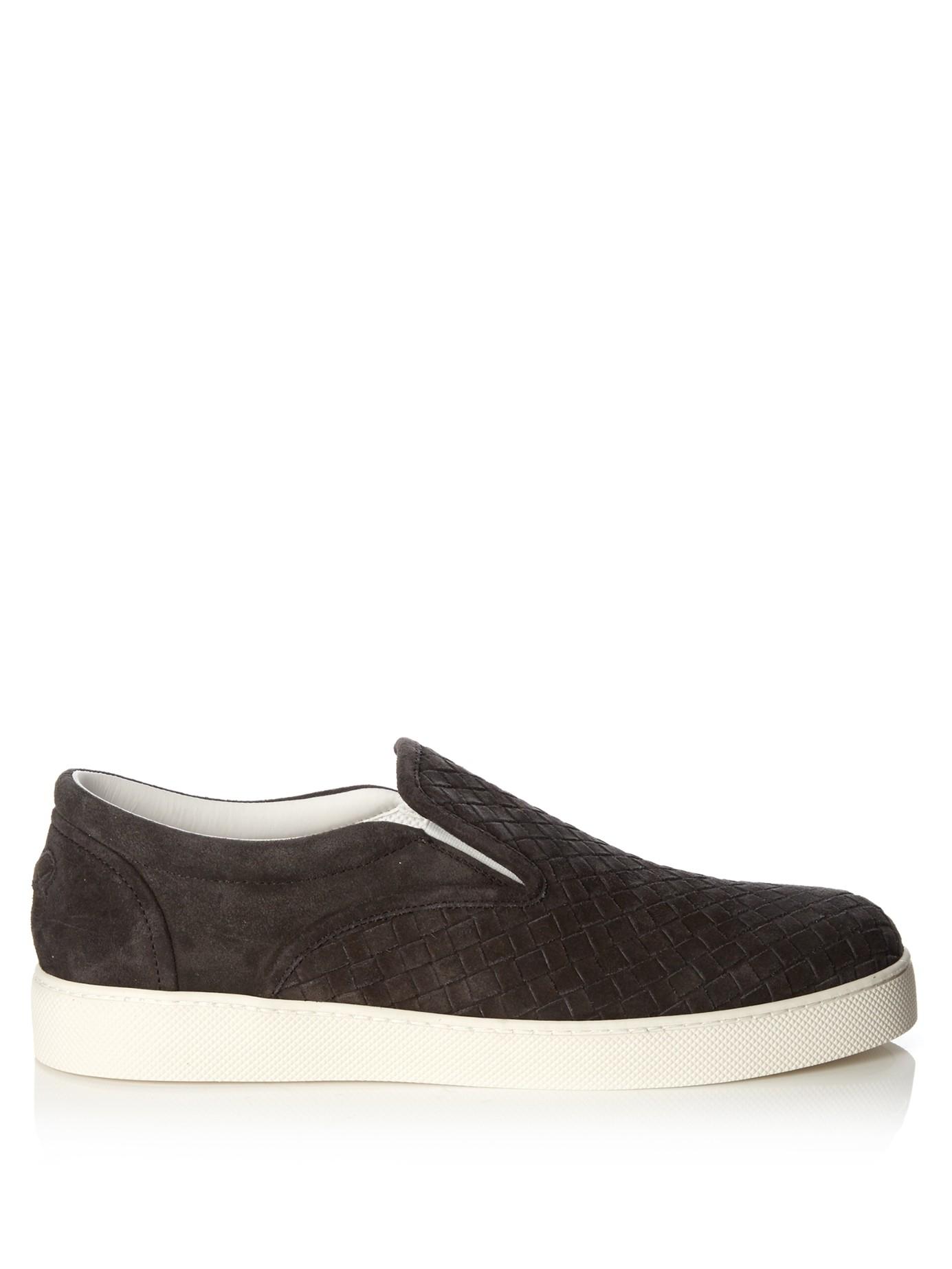 Bottega Veneta Gray Suede Shoes Men