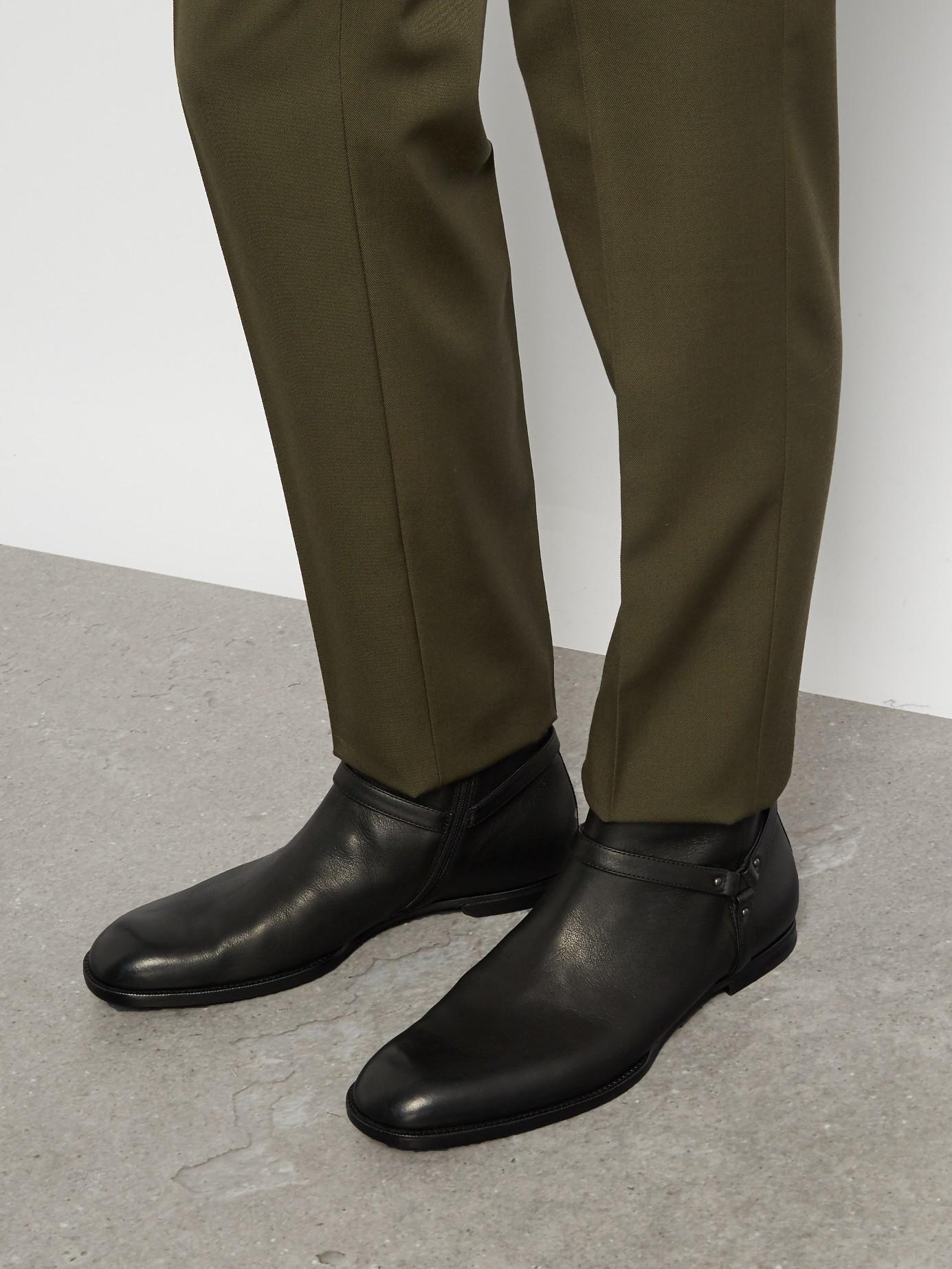 Lyst Bottega Veneta Leather Ankle Boots In Black For Men