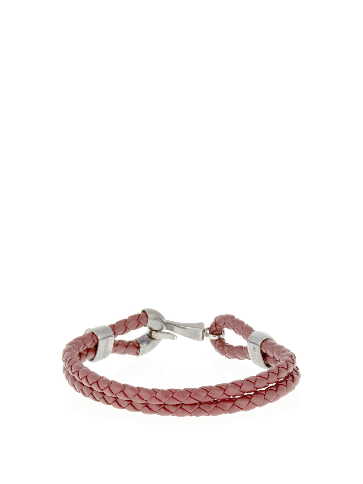 Lyst Bottega Veneta Intrecciato Leather Bracelet In Brown