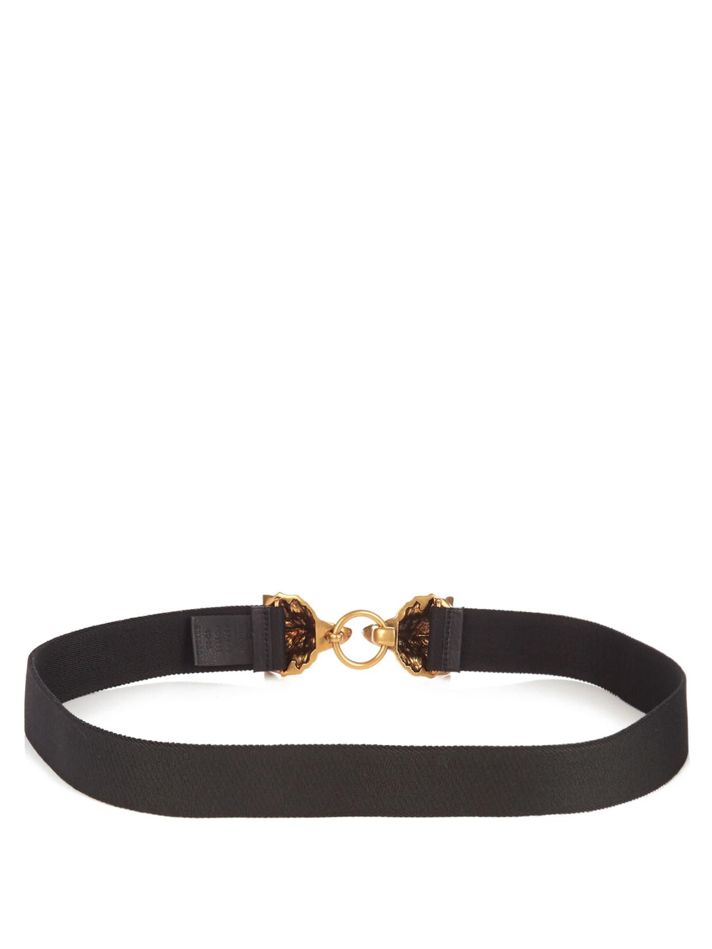 41bd2912029d28 Gucci Wolf-head Elasticated Belt in Black for Men - Lyst