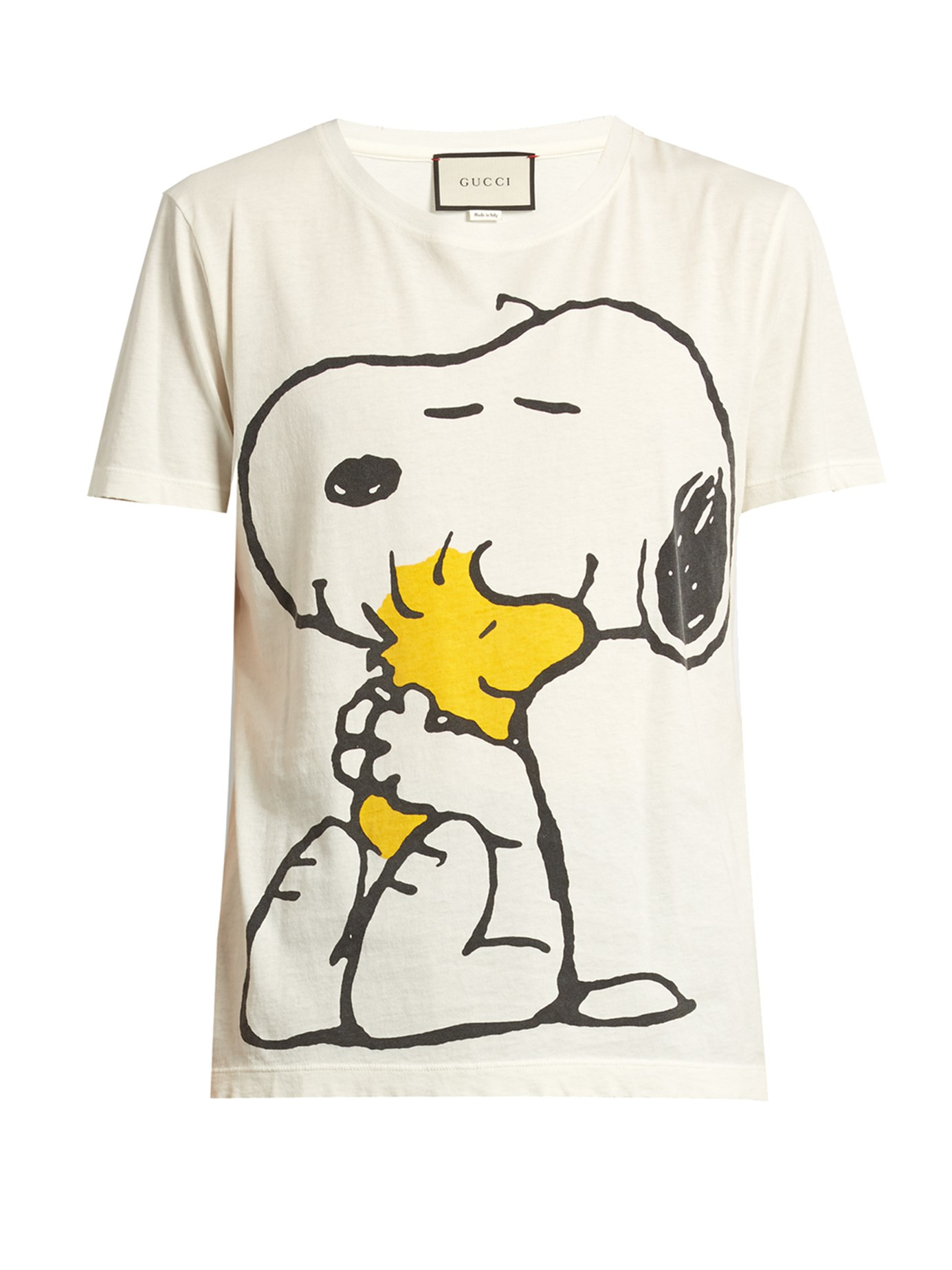 57b8150d6 Gucci Snoopy And Woodstock-print Cotton T-shirt for Men - Lyst