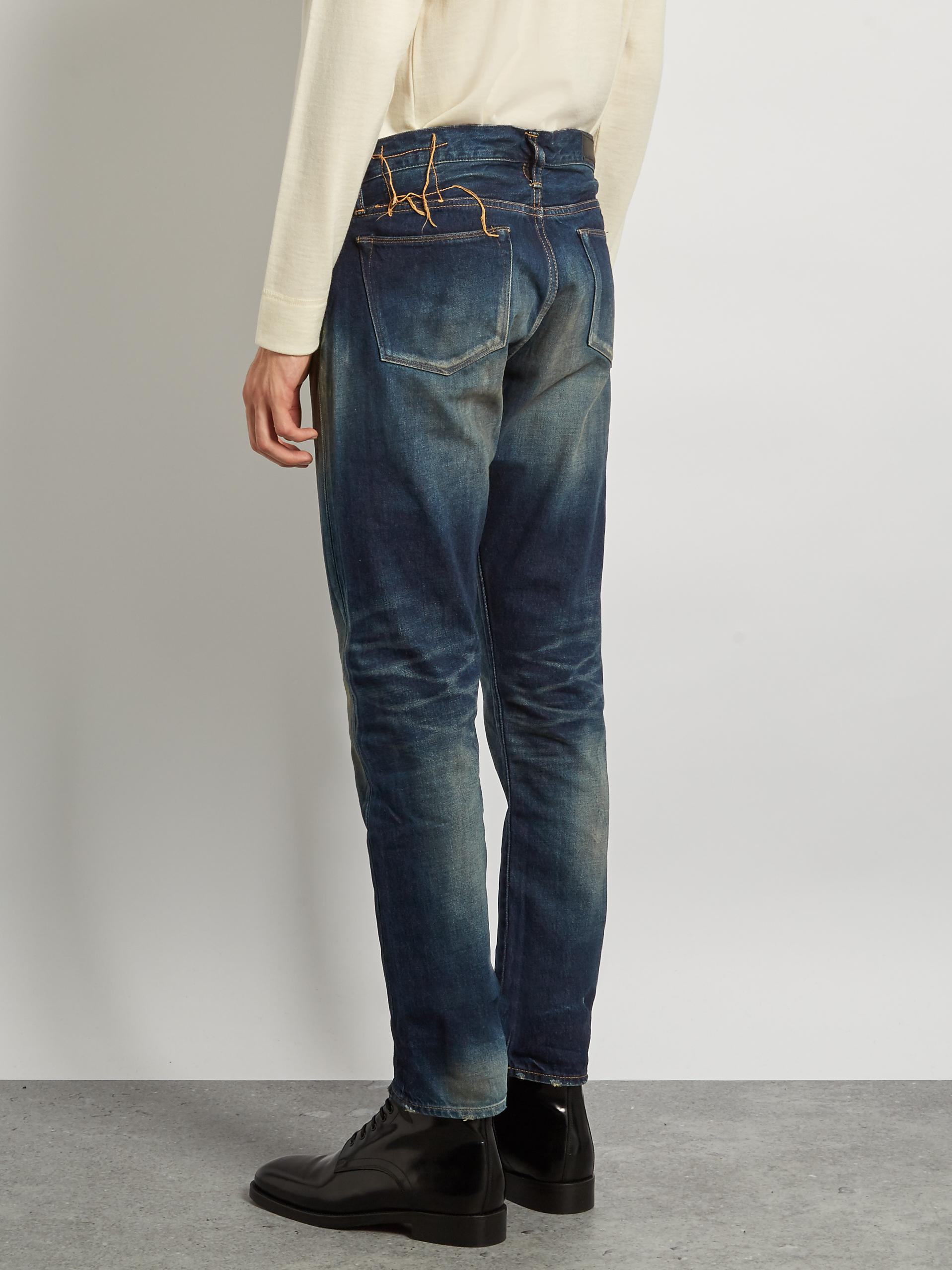 Kuro Denim Aulick Slim-leg Jeans in Blue for Men
