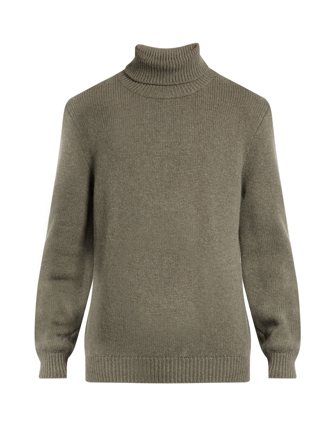 Massimo alba Roll-neck Wool Sweater in Gray for Men