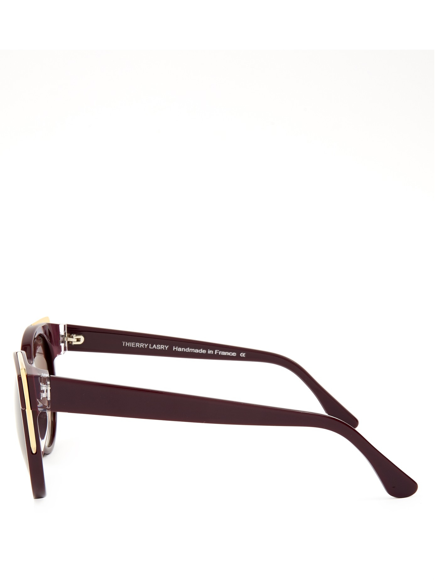 Thierry Lasry Monogamy Cat-eye Sunglasses in Purple (Brown)