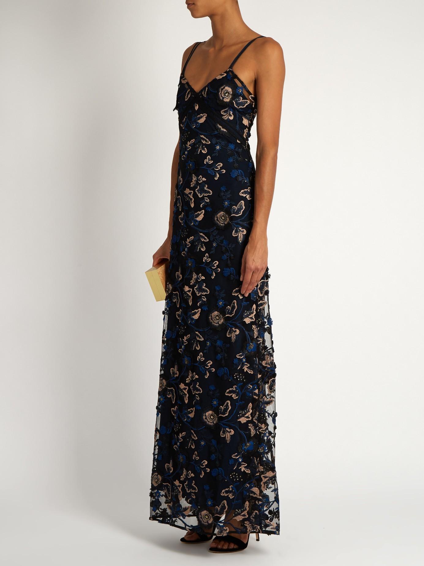 Embroidered Slip Dress