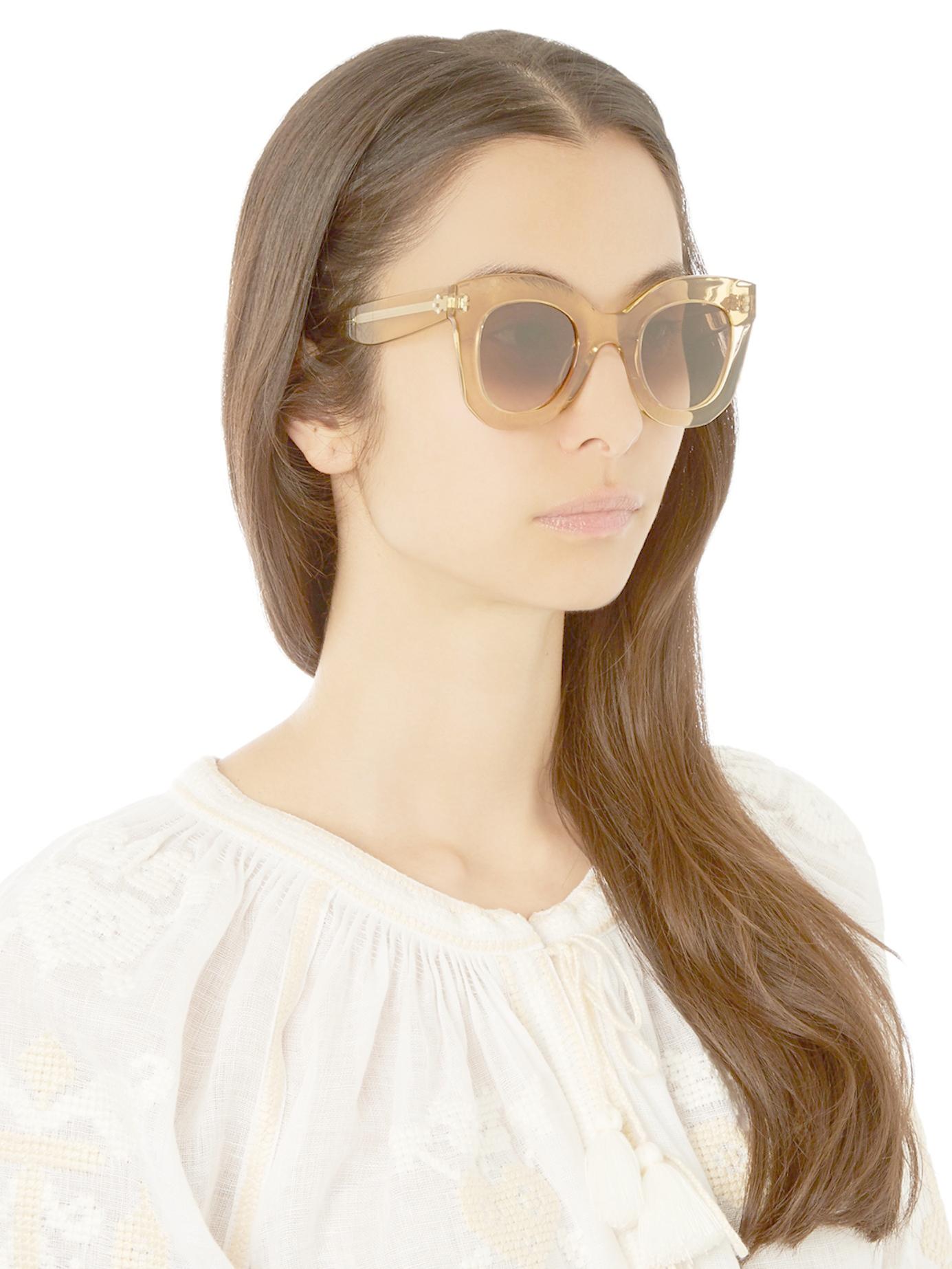 ae664c9c776 Lyst - Céline Baby Marta Acetate Sunglasses in Yellow