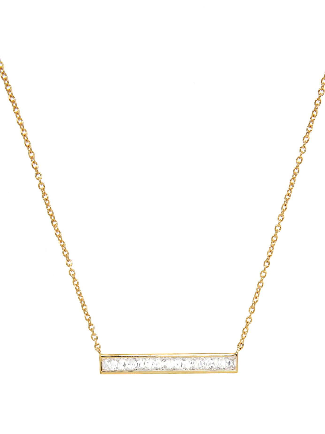 Theodora Warre Zircon And Gold-plated Necklace in Metallic