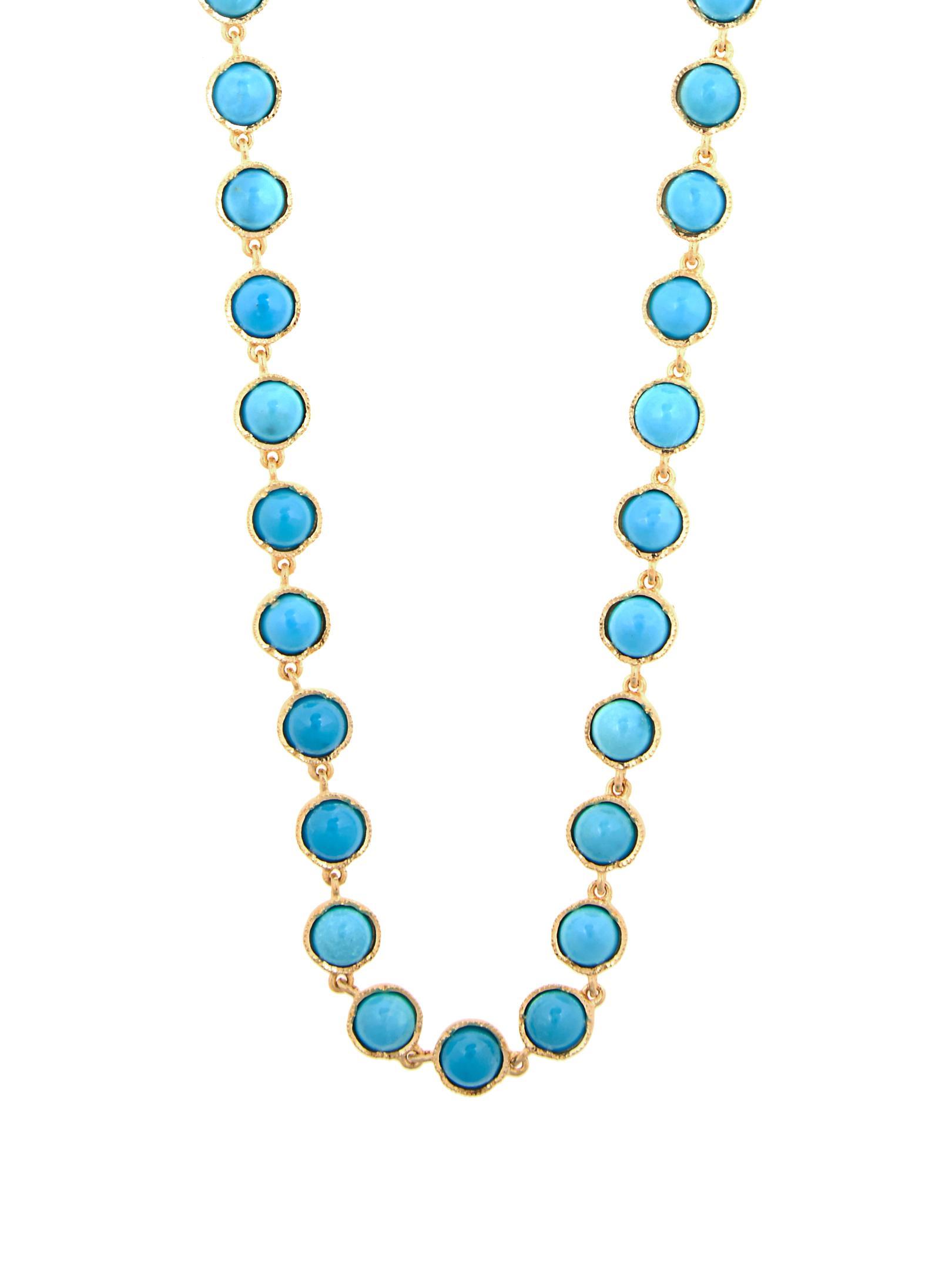 Irene Neuwirth Turquoise & Yellow-gold Necklace