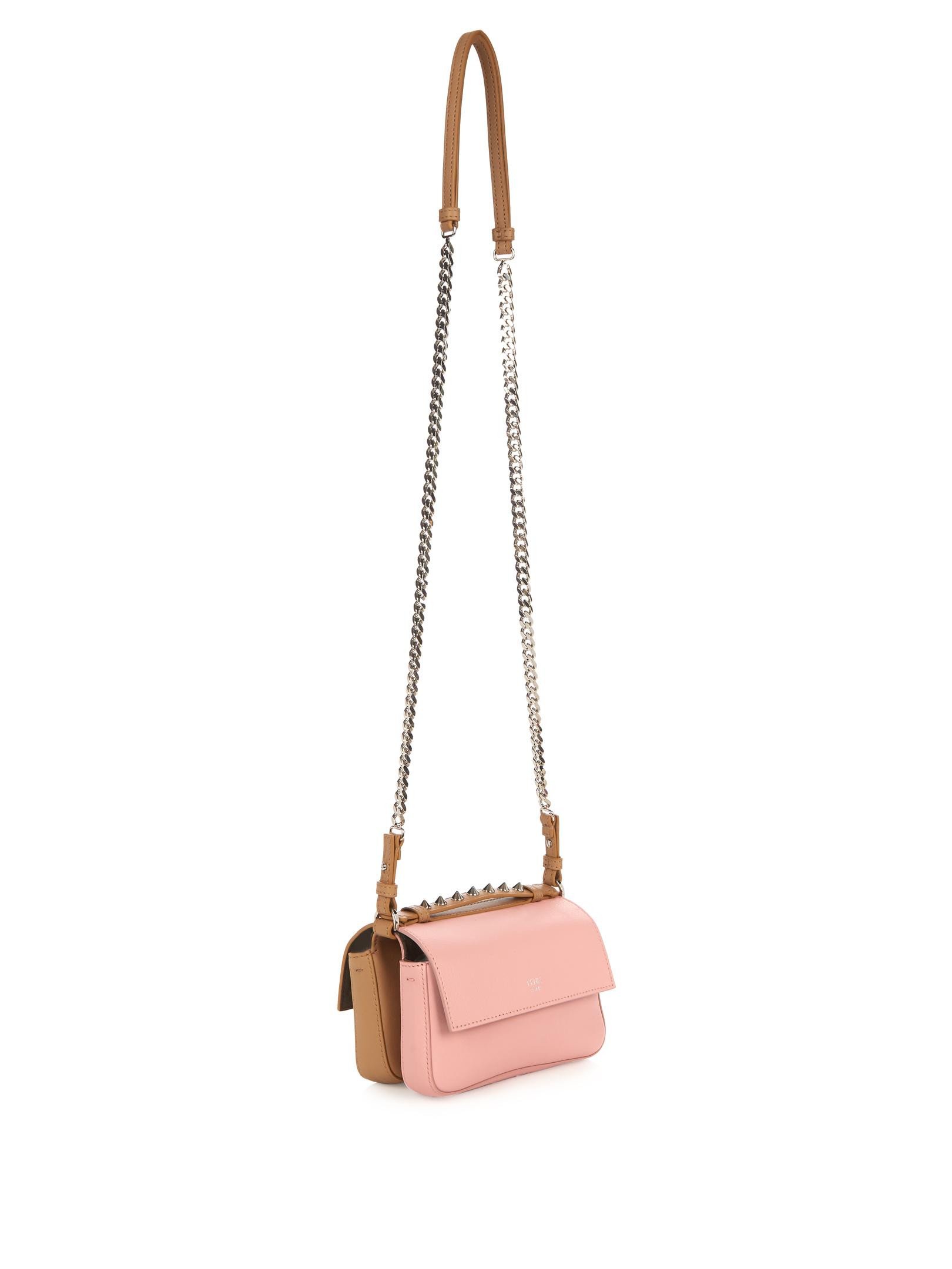 f23568be Fendi Leather Double Micro Baguette Hypnoteyes Cross-body ...