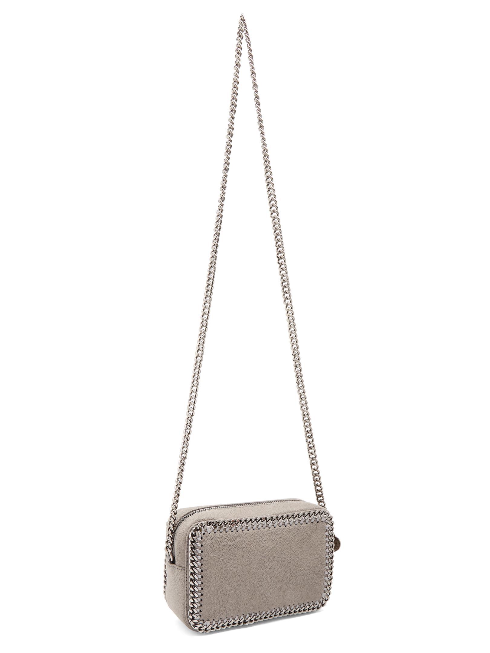 Stella McCartney Falabella Camera Faux-suede Cross-body Bag in Light Grey (Grey)