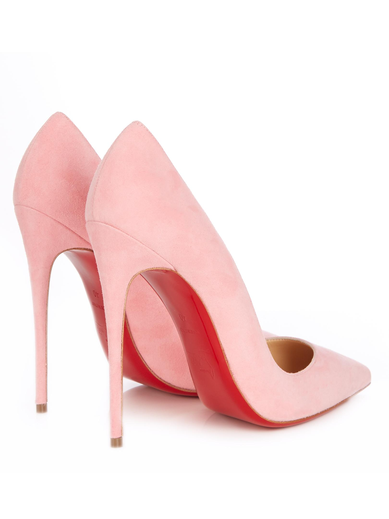 ec47bc73e57 Christian Louboutin Pink So Kate suede 120mm Pumps