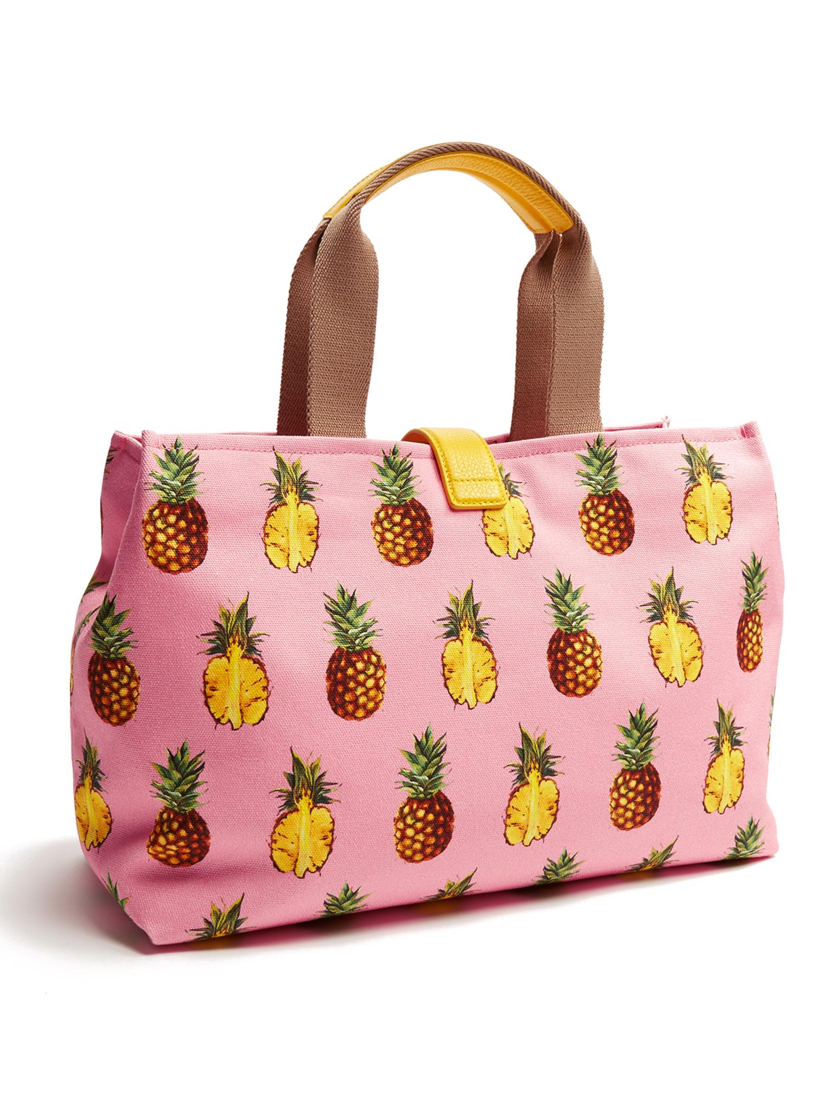 Dolce & Gabbana Canvas Pineapple Tote Bag in Pink/Purple (Pink)
