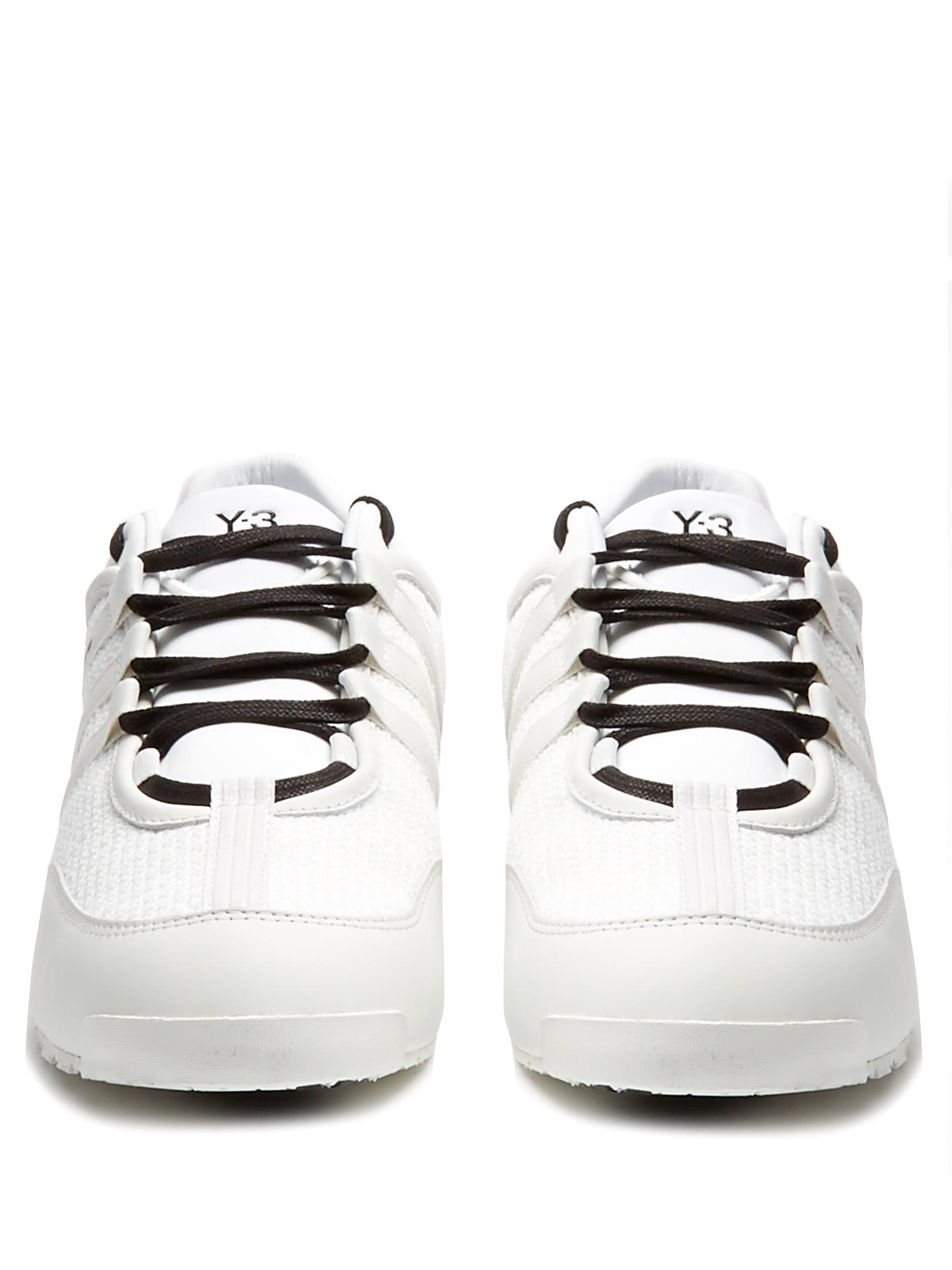 Y-3 Leather Boxing Low-top Trainers in White for Men