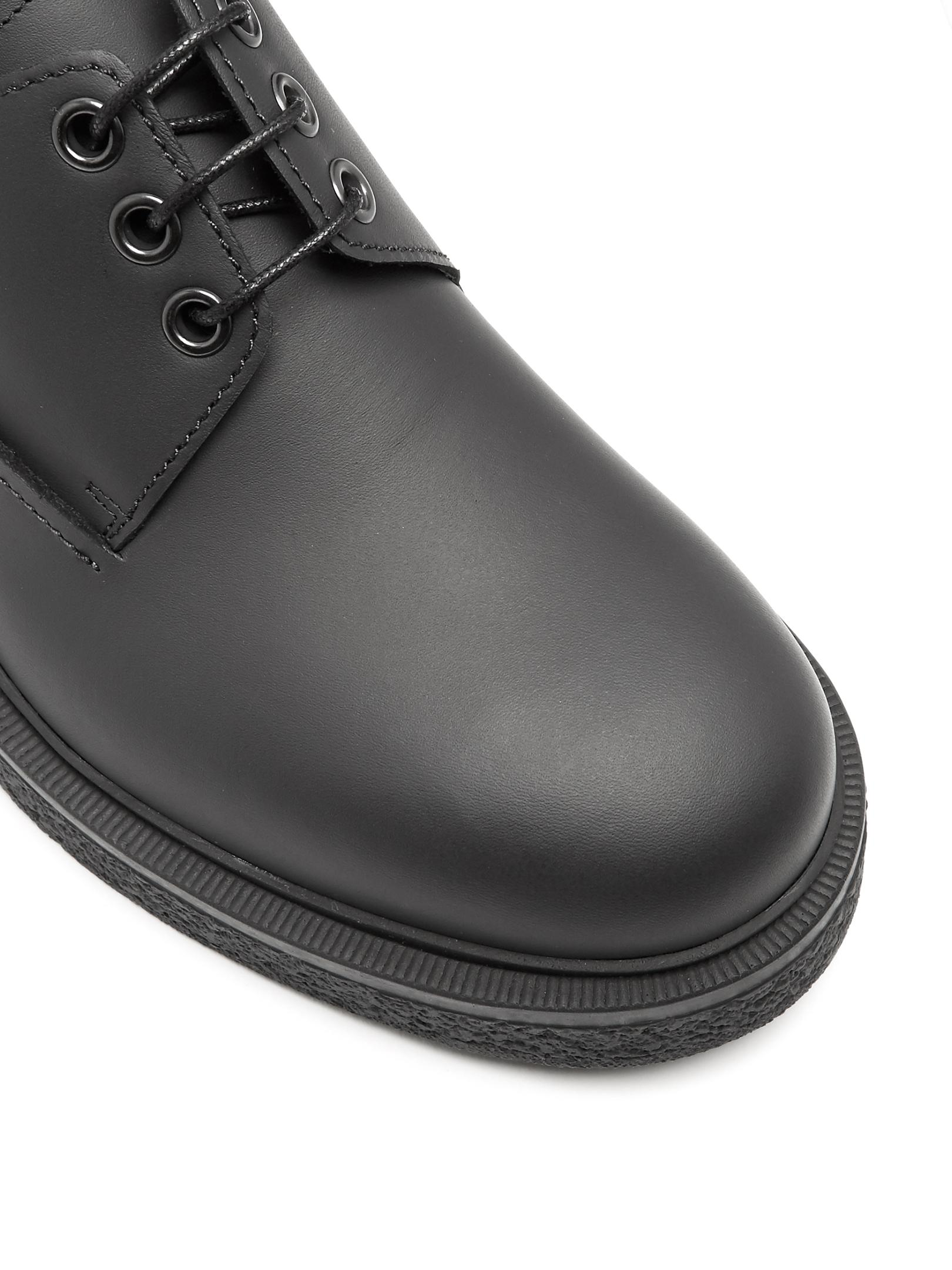Lanvin Round-toe Leather Derby Shoes in Black for Men