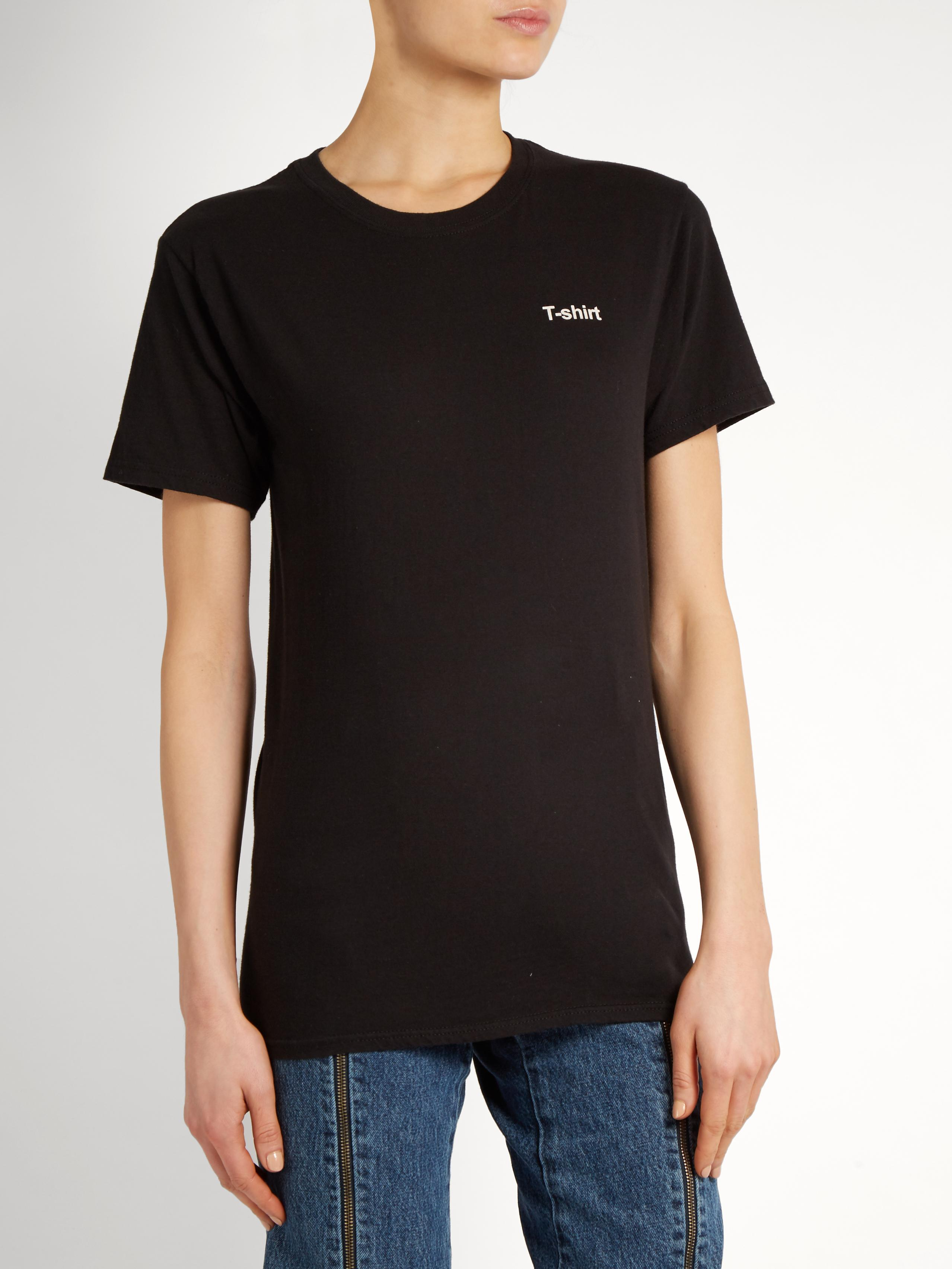 Lyst Vetements X Hanes Text Print Cotton T Shirt In Black