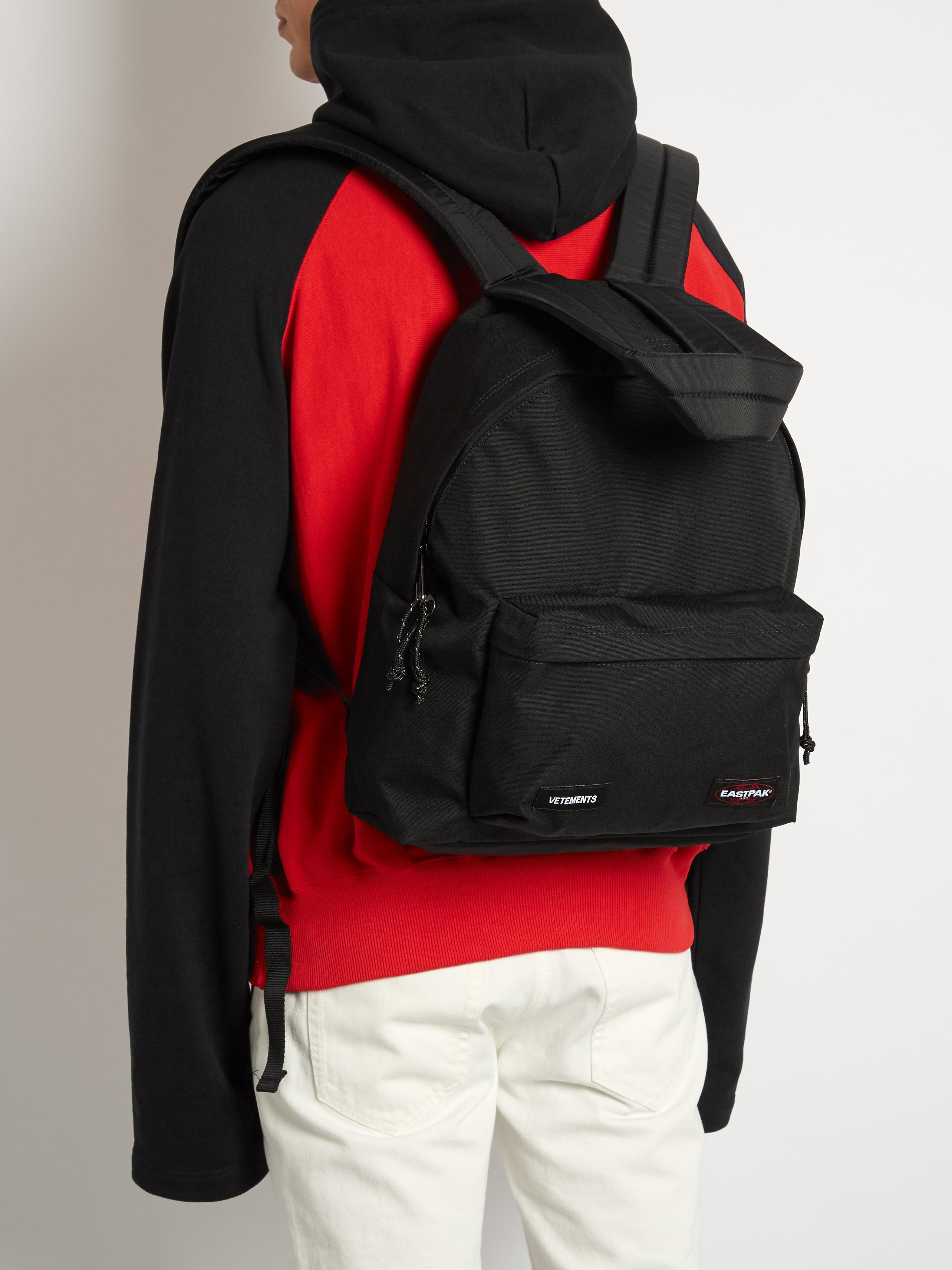 Vetements X Eastpak Canvas Backpack in Black
