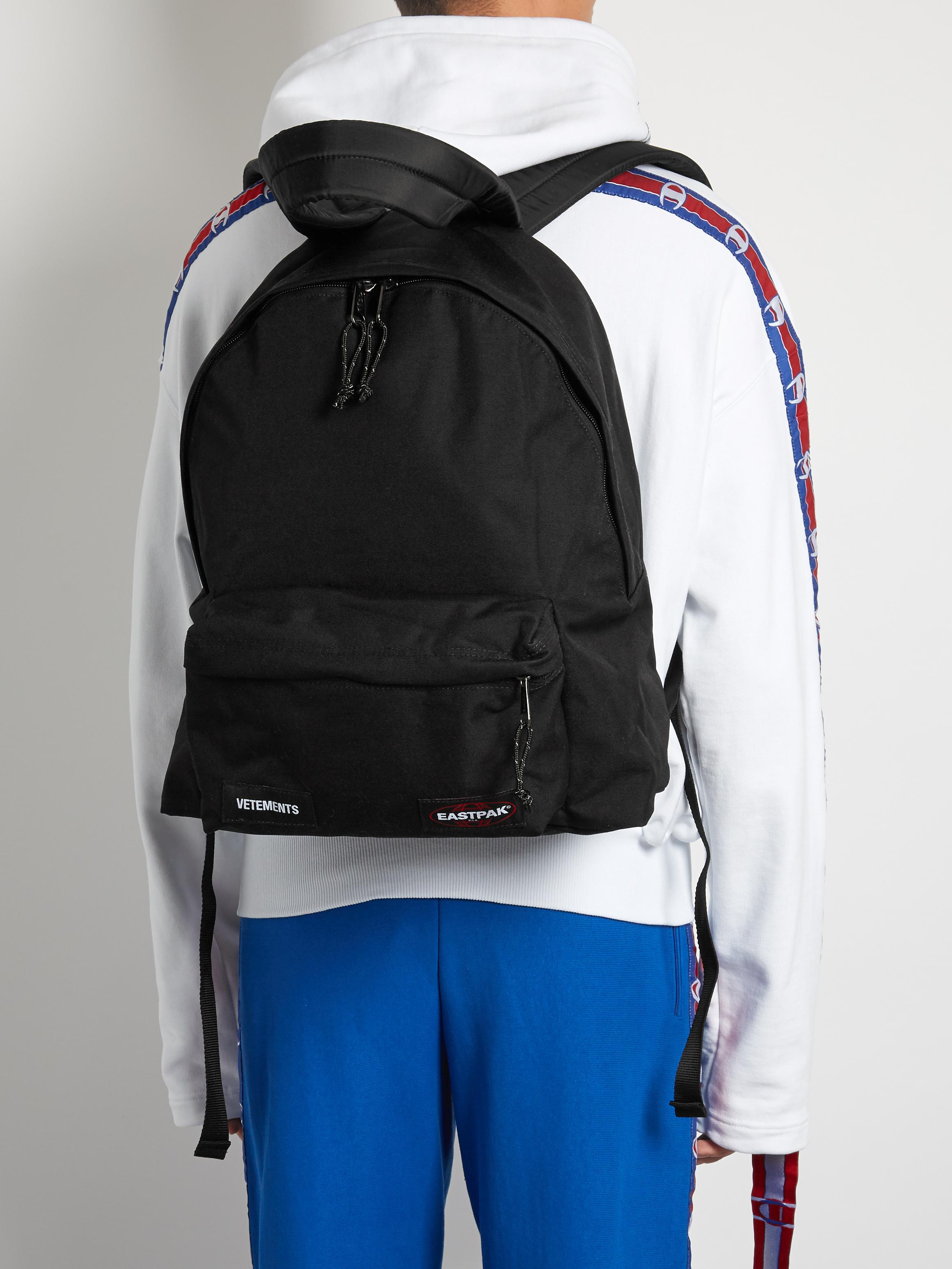 Lyst Vetements X Eastpak Oversized Canvas Backpack In